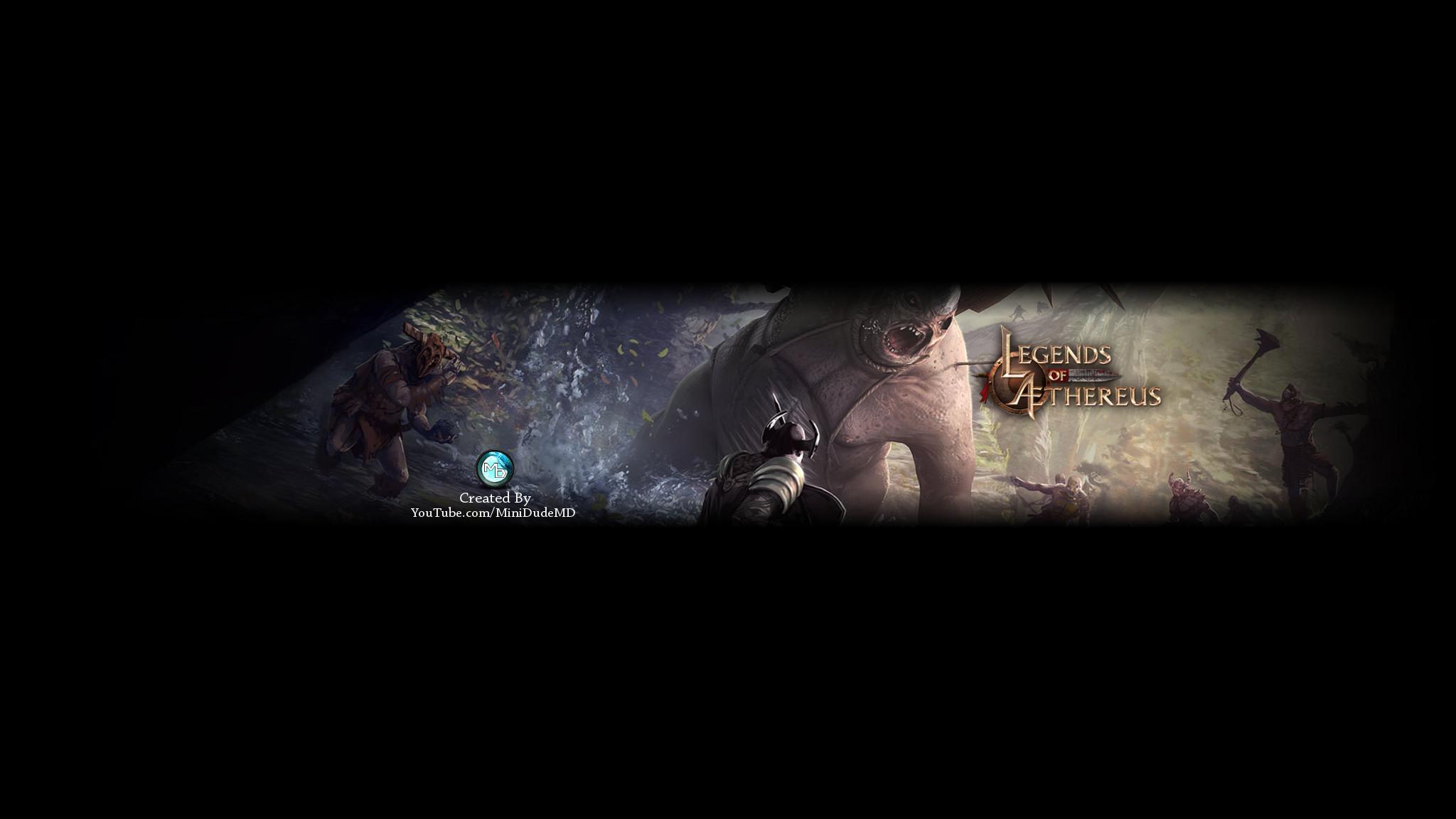 … Legends of Aethereus – YouTube Banner V1 by MiniDudeMD