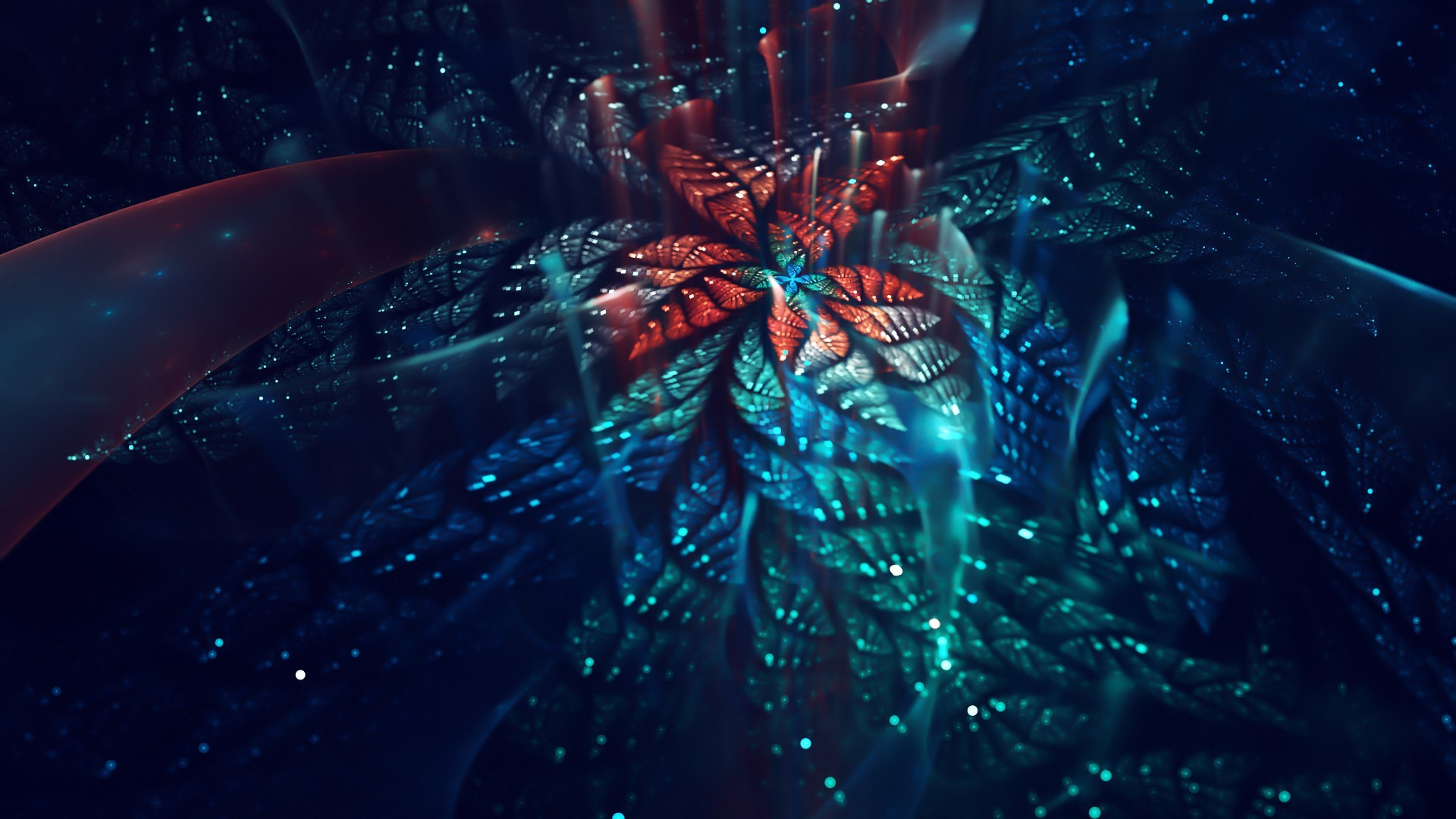 … Background Full HD 1080p. Wallpaper fractal, flower, shiny,  fractal art