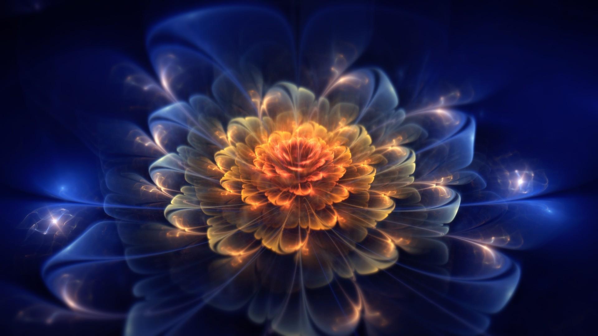 … Background Full HD 1080p. Wallpaper fractal, flower, light,  dark