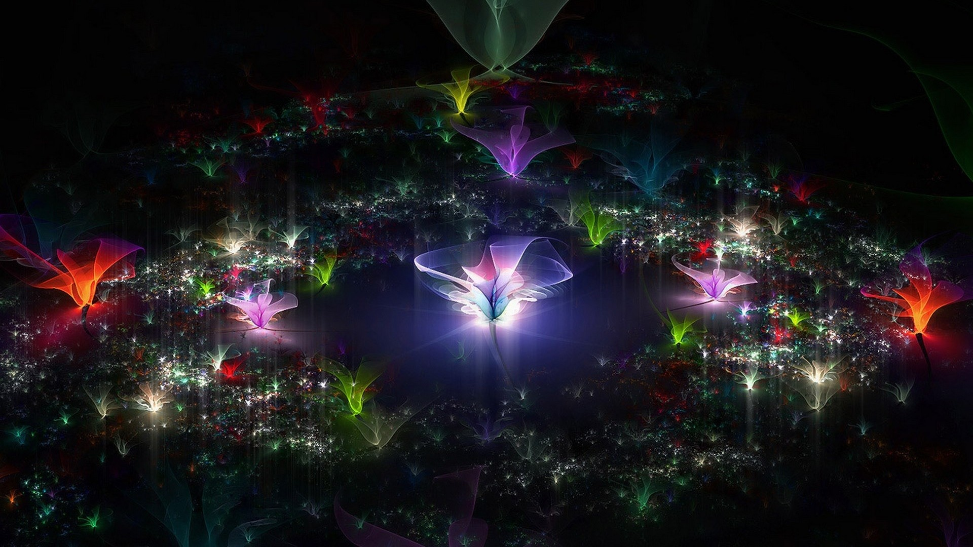 … Background Full HD 1080p. Wallpaper fractal, flying, dark,  background