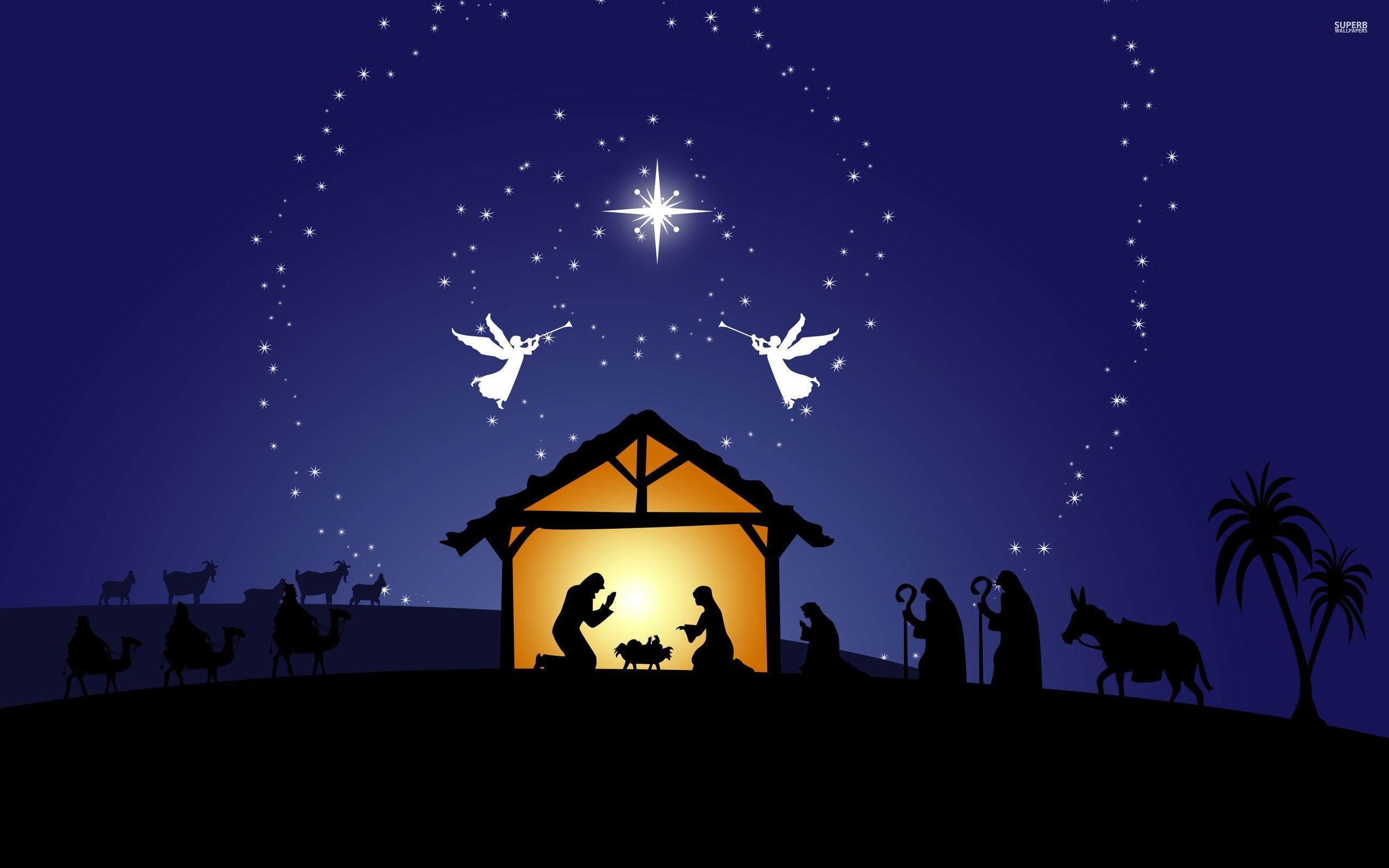 Nativity Scene Desktop Wallpaper