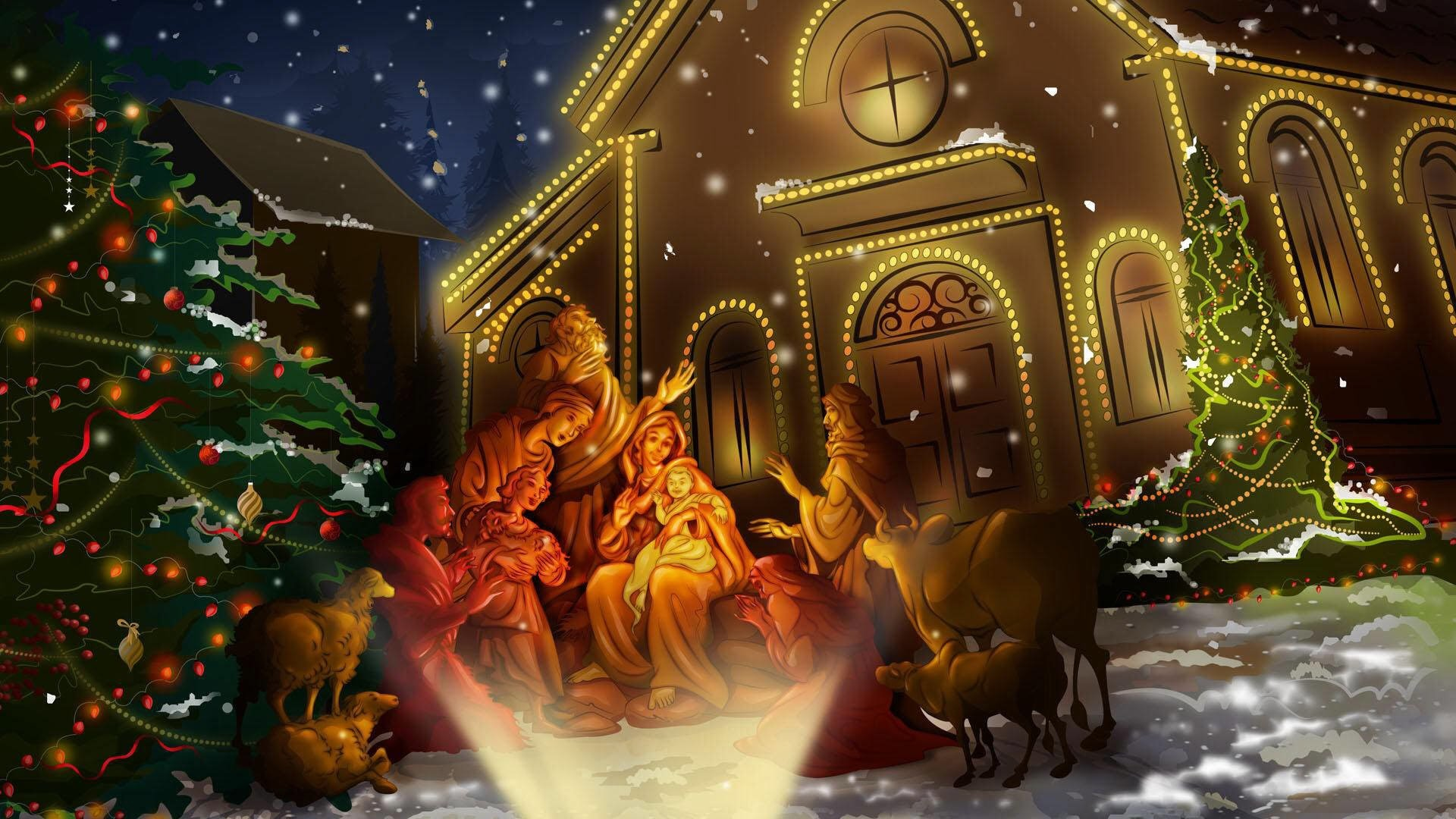Christian Christmas Nativity Religious · HD Wallpaper   Background ID:471539