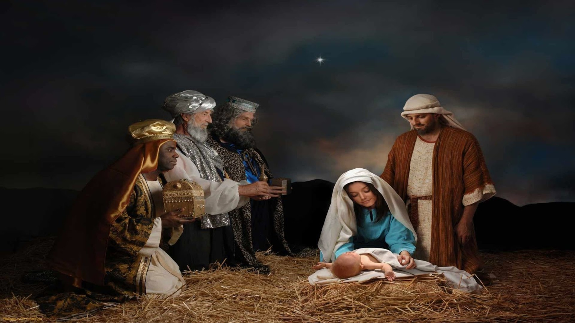 christmas nativity powerpoint backgrounds