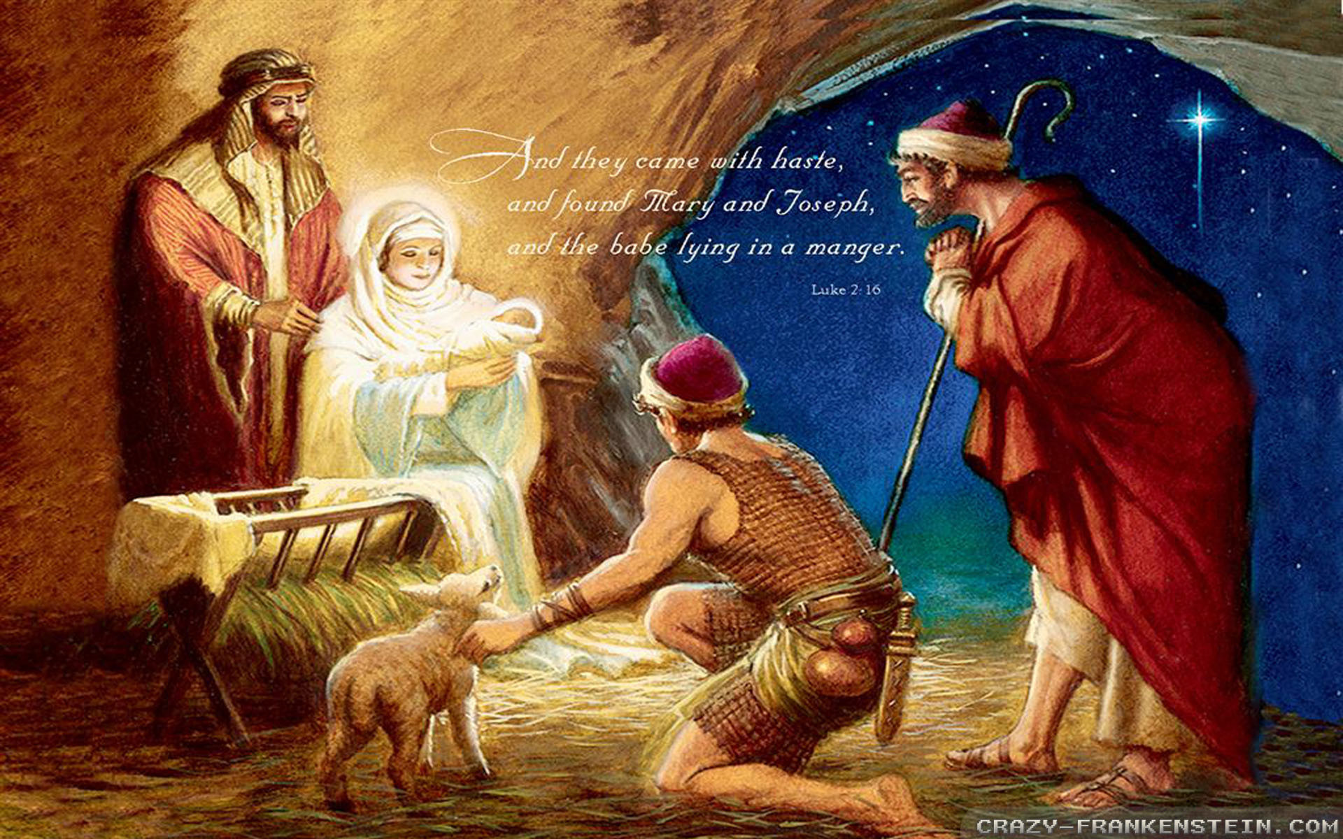 Wallpaper: Old Nativity Christian Christmas wallpapers. Resolution:  1024×768   1280×1024   1600×1200. Widescreen Res: 1440×900   1680×1050    1920×1200