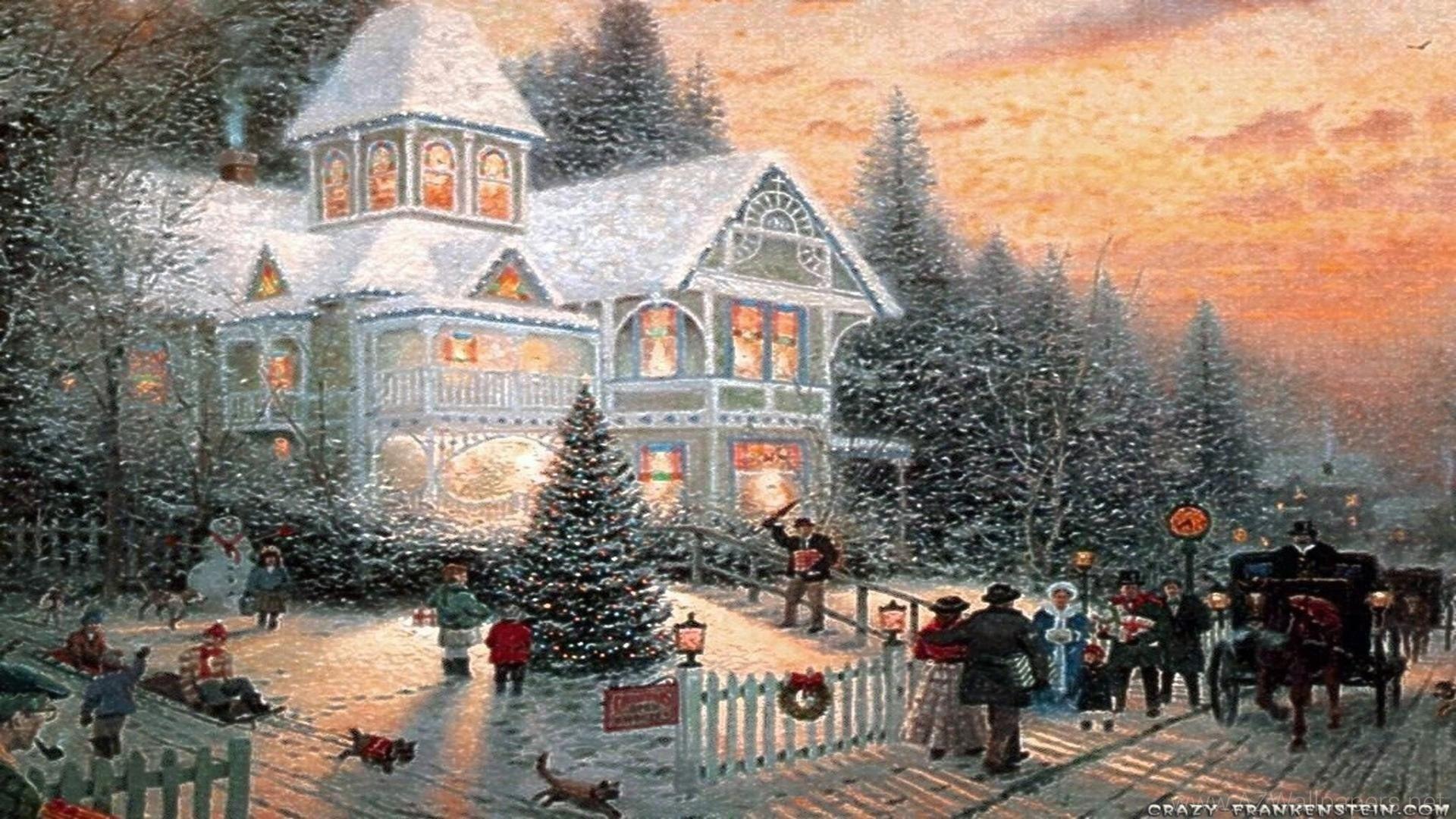 … wallpaper scenes wallpapersafari; red christmas scene 1600×900 …