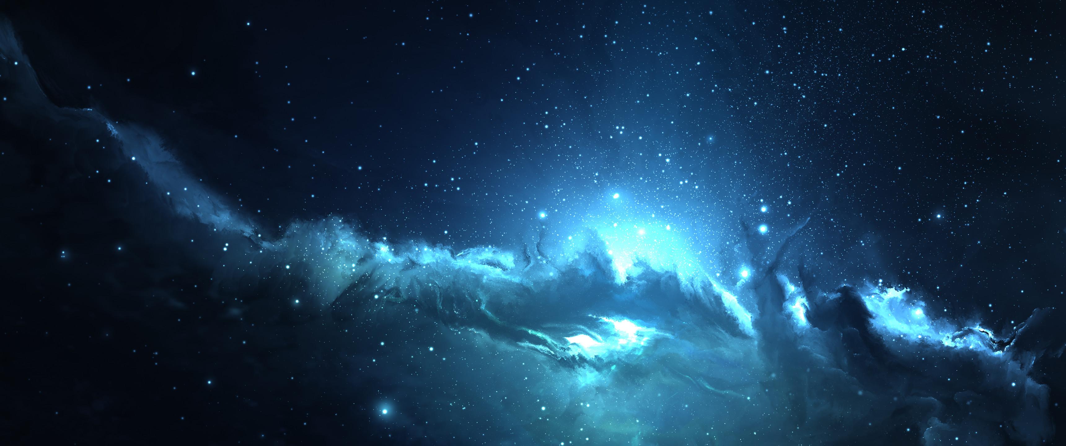 … ultrawide, Astrophotography, Space, Blue Wallpapers HD Desktop .
