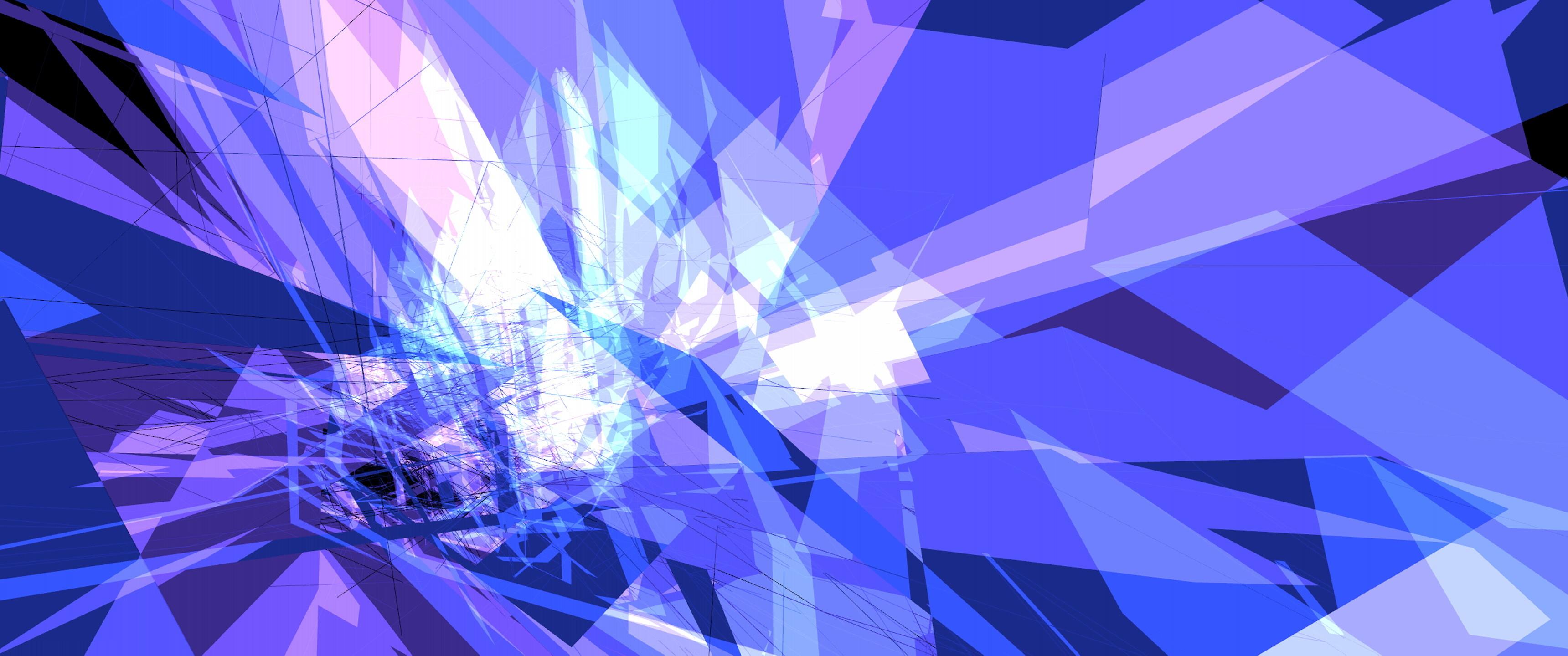 … Purple Prism Ultrawide Wallpaper