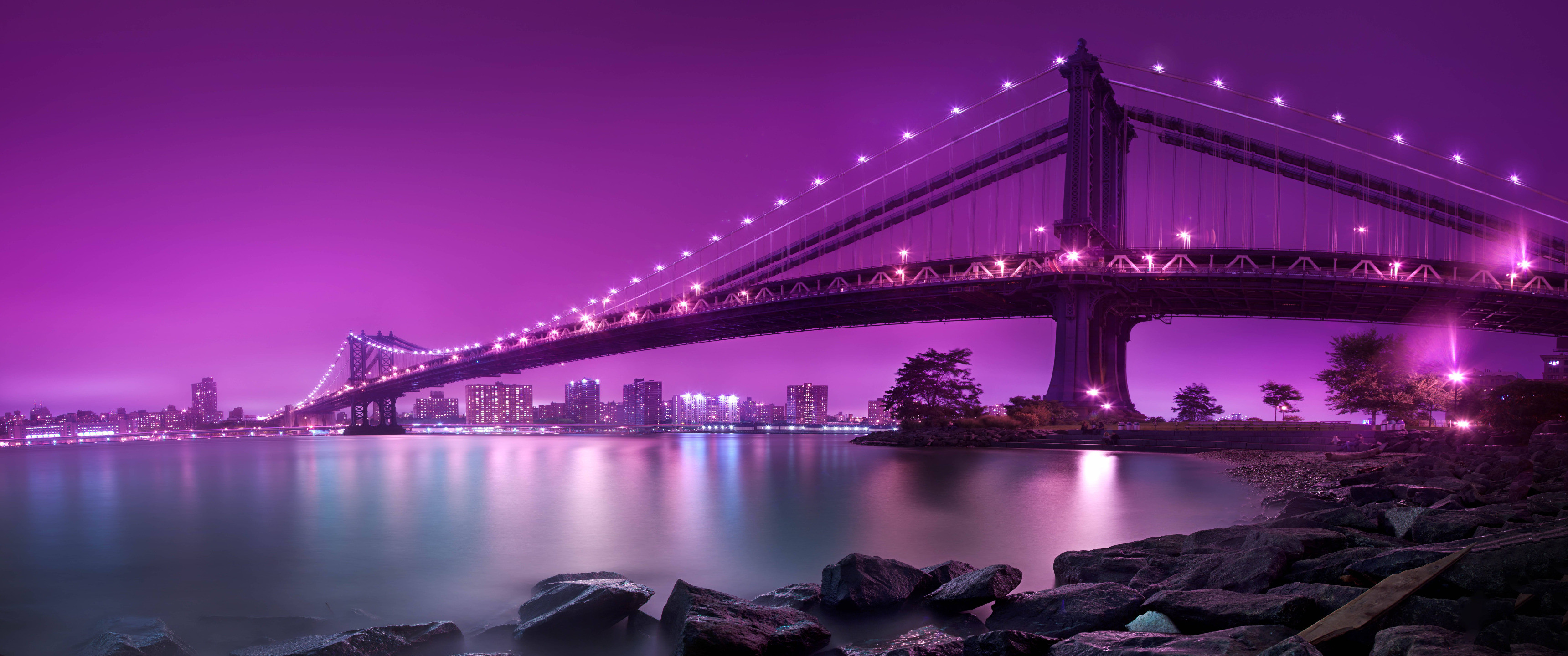 Purple Sky Ultrawide Wallpaper