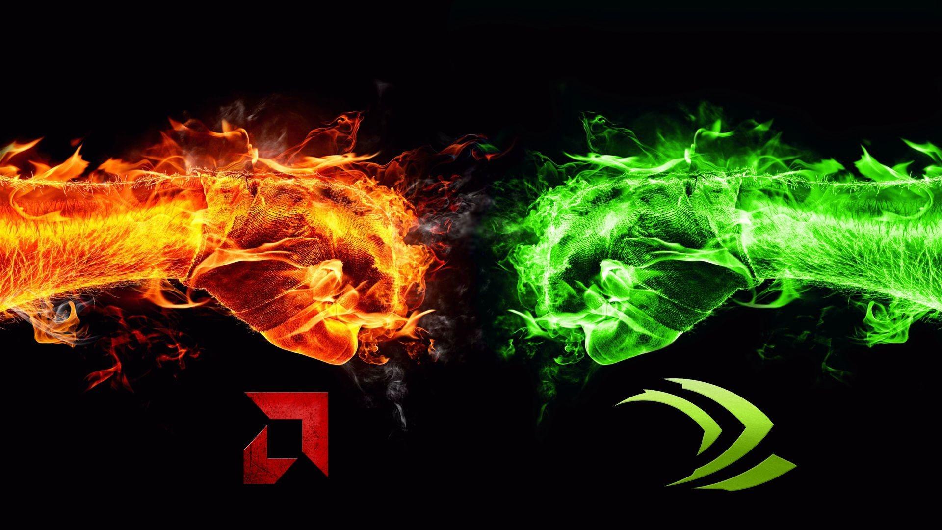 WallpaperNvidia VS AMD Wallpaper I made …