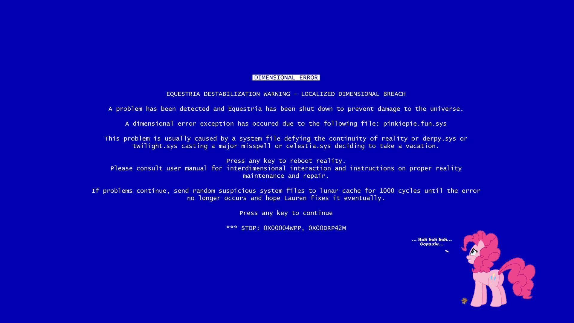 Pix For > Blue Screen Of Death Screensaver