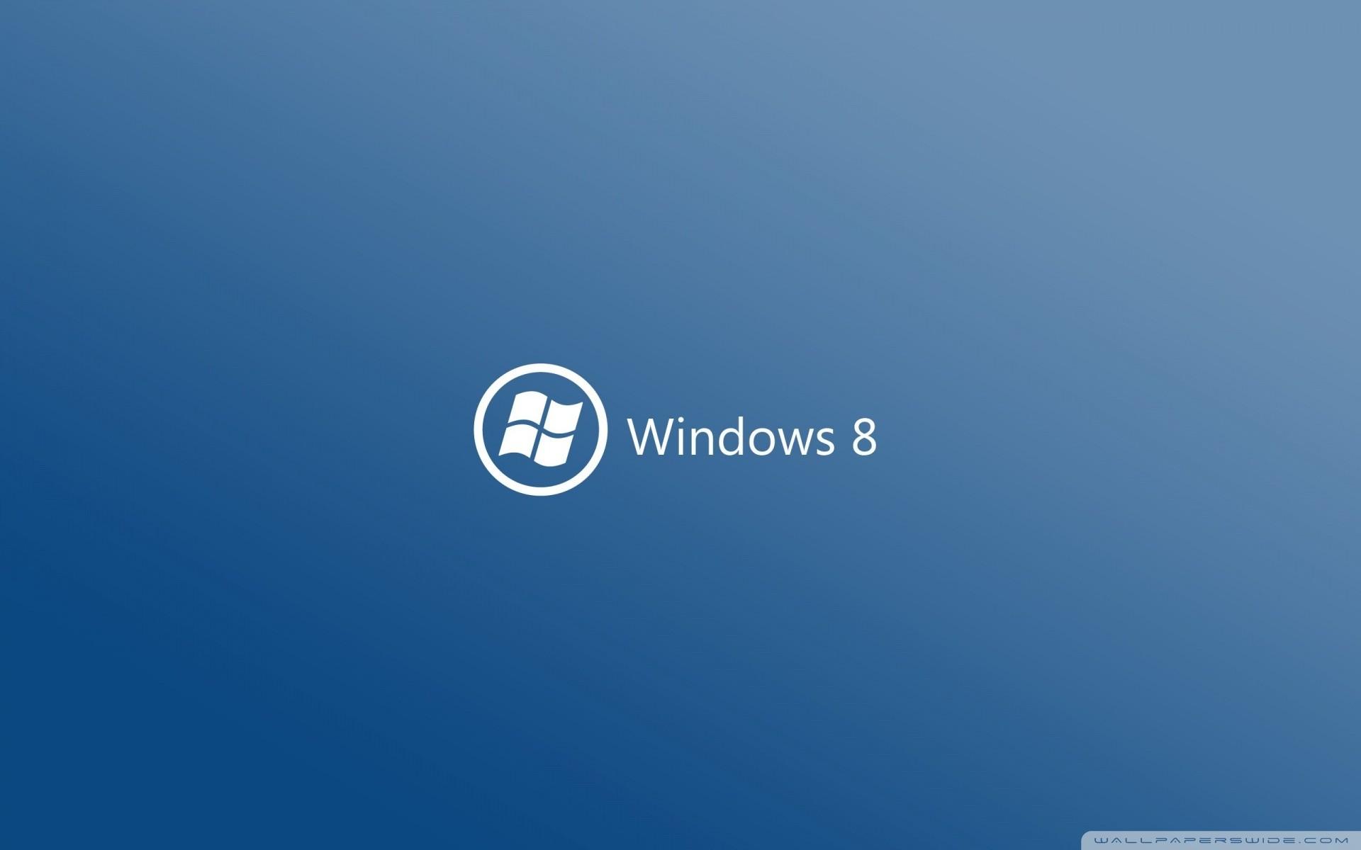 Windows 8 On Blue Background HD desktop wallpaper : High .