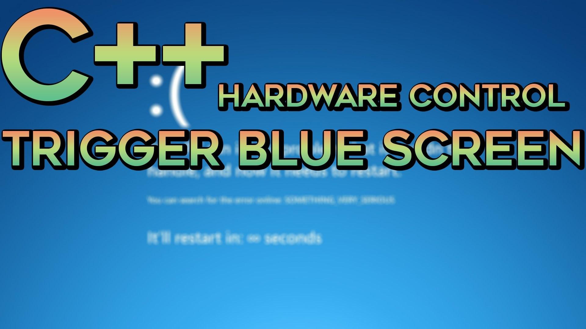 C/C++ Trigger Blue Screen Of Death (BSOD)