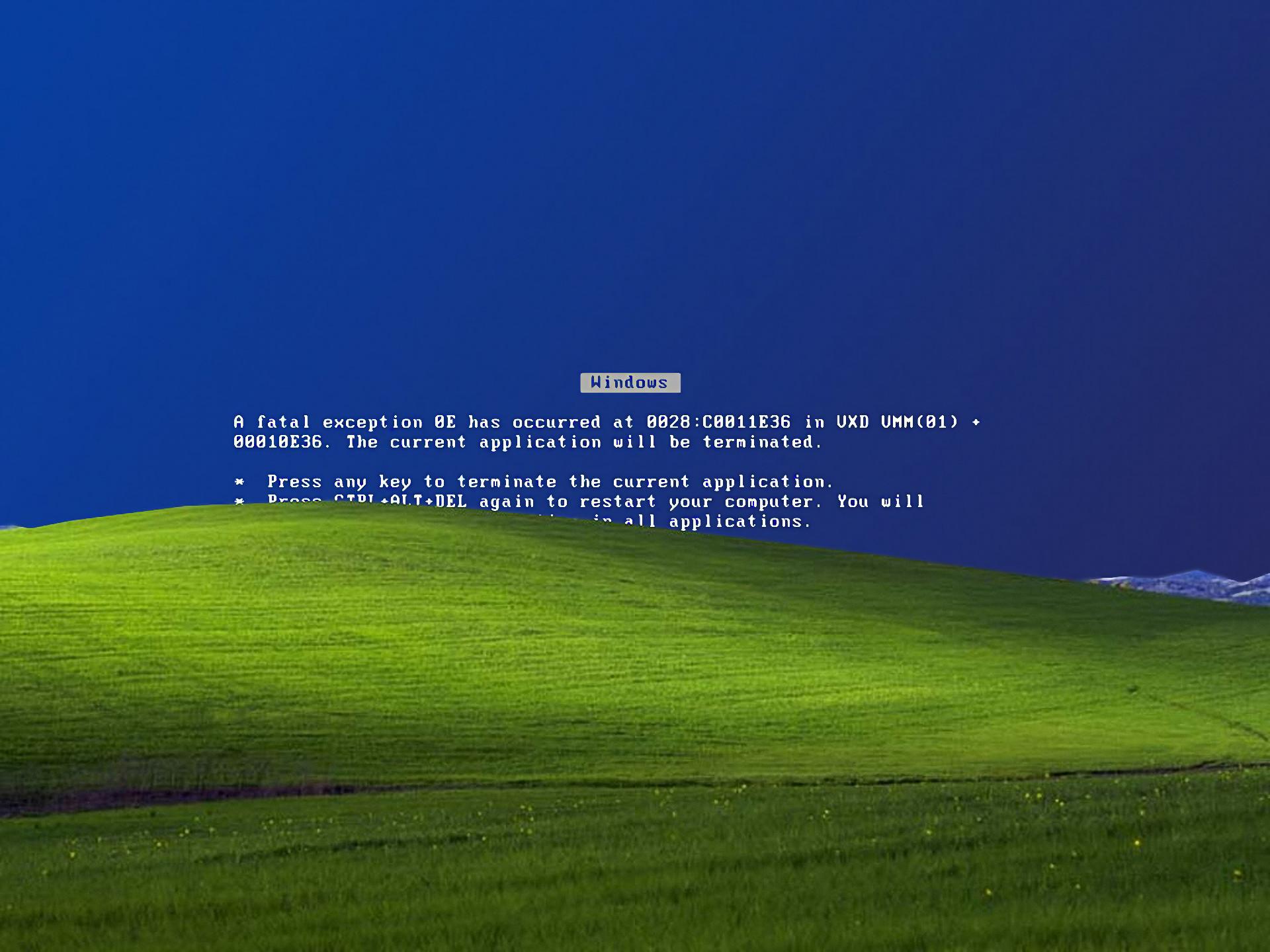 Windows XP error Microsoft Windows Blue Screen of Death wallpaper .