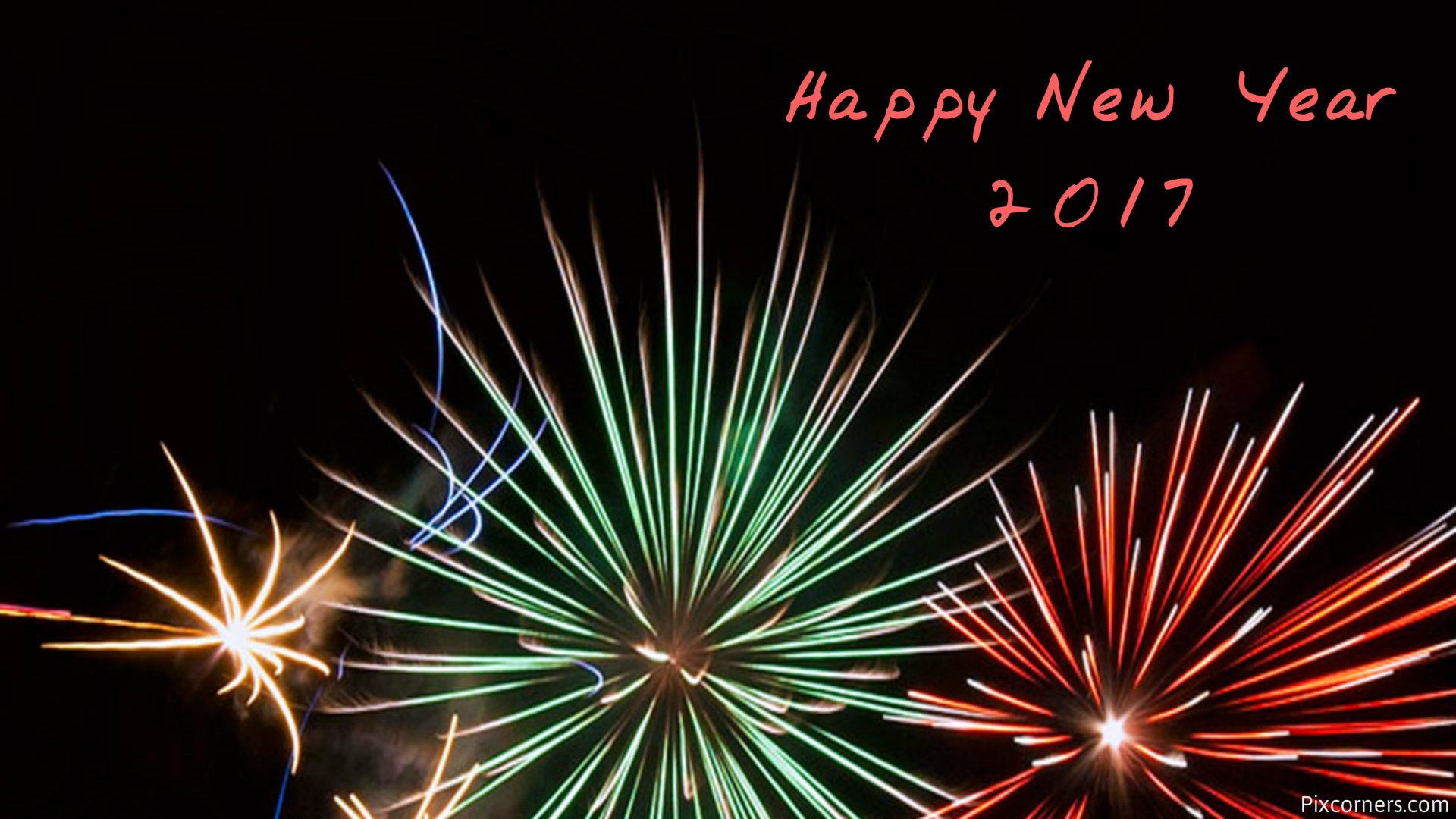 Happy New Year 2017 Wallpaper HD Fireworks