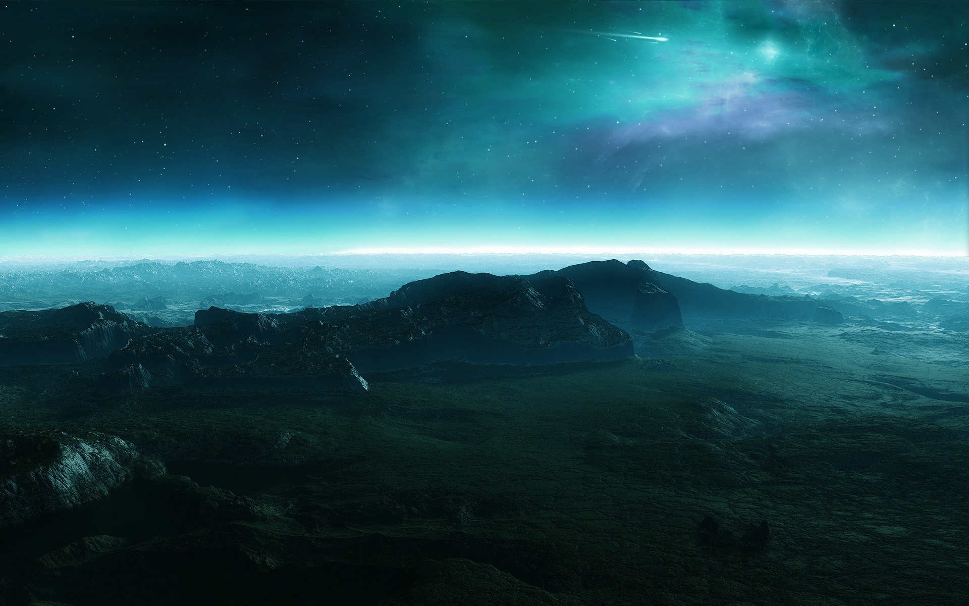 surface of the blue planets Universe Wallpaper