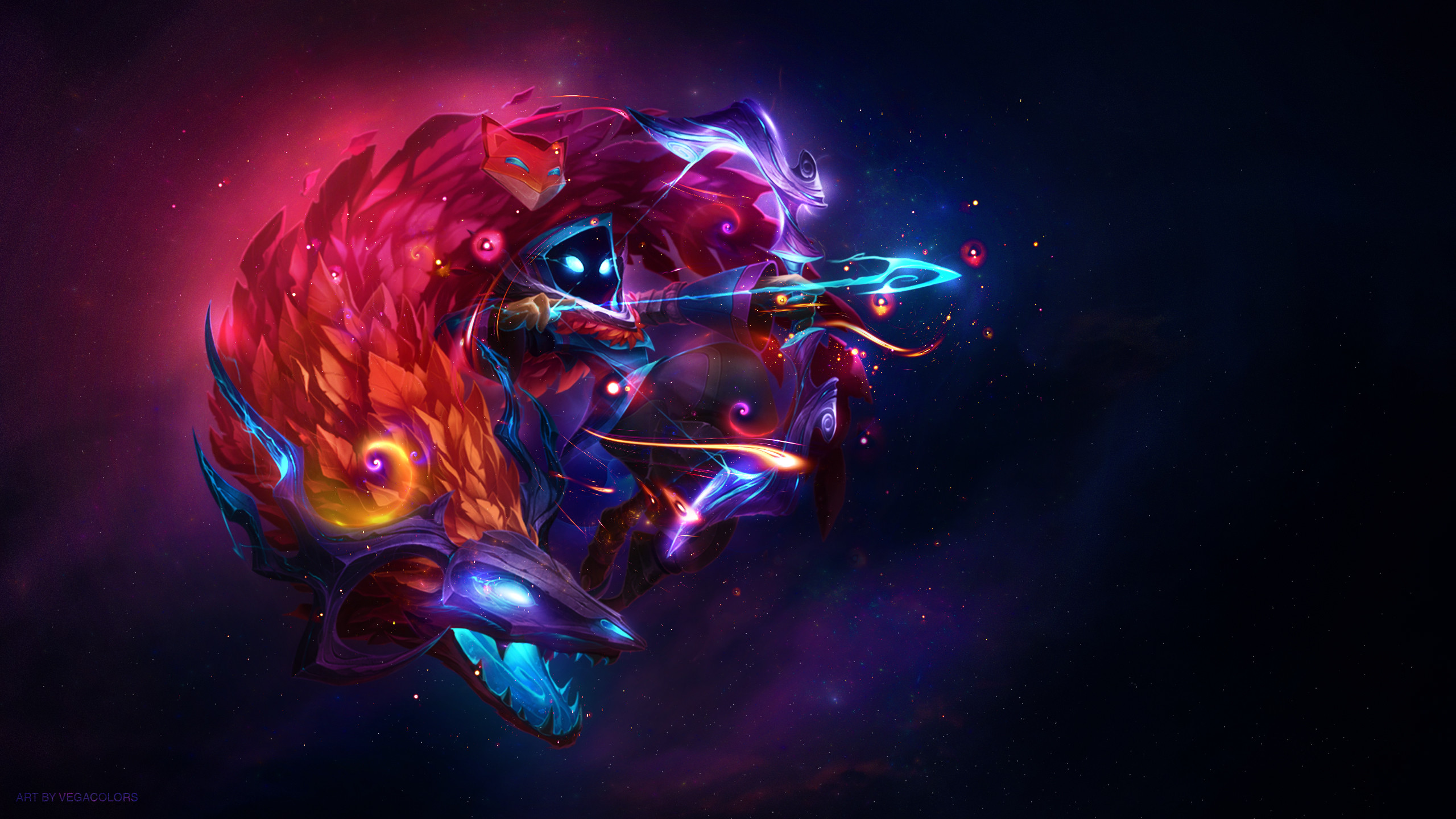 Kindred League Of Legends 1360×768 Resolution