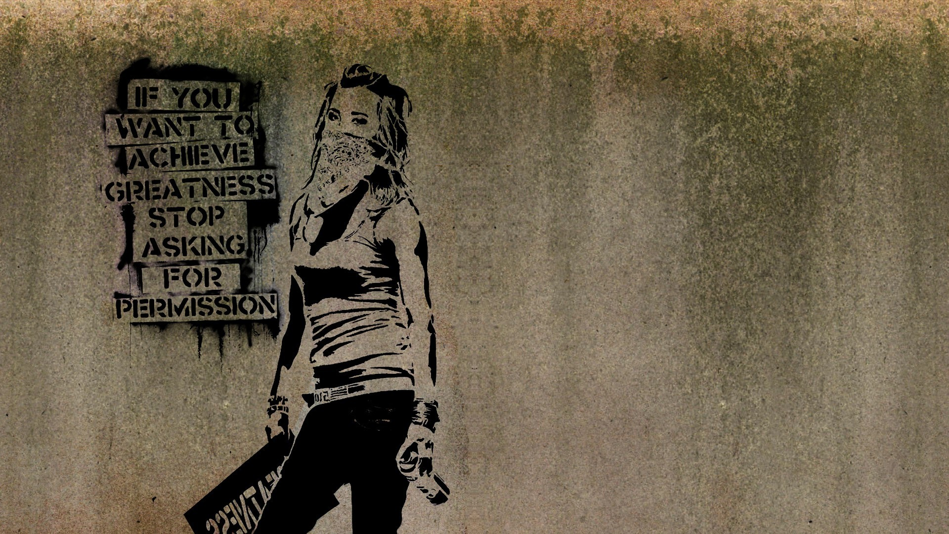 graffiti, Women, Banksy, Artwork, Text, Quote, Minimalism, Inspirational,  Walls, Scarf Wallpapers HD / Desktop and Mobile Backgrounds