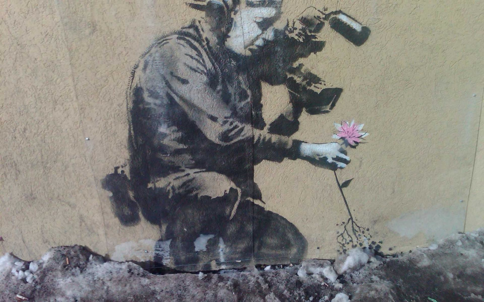 Banksy Flower Photographer