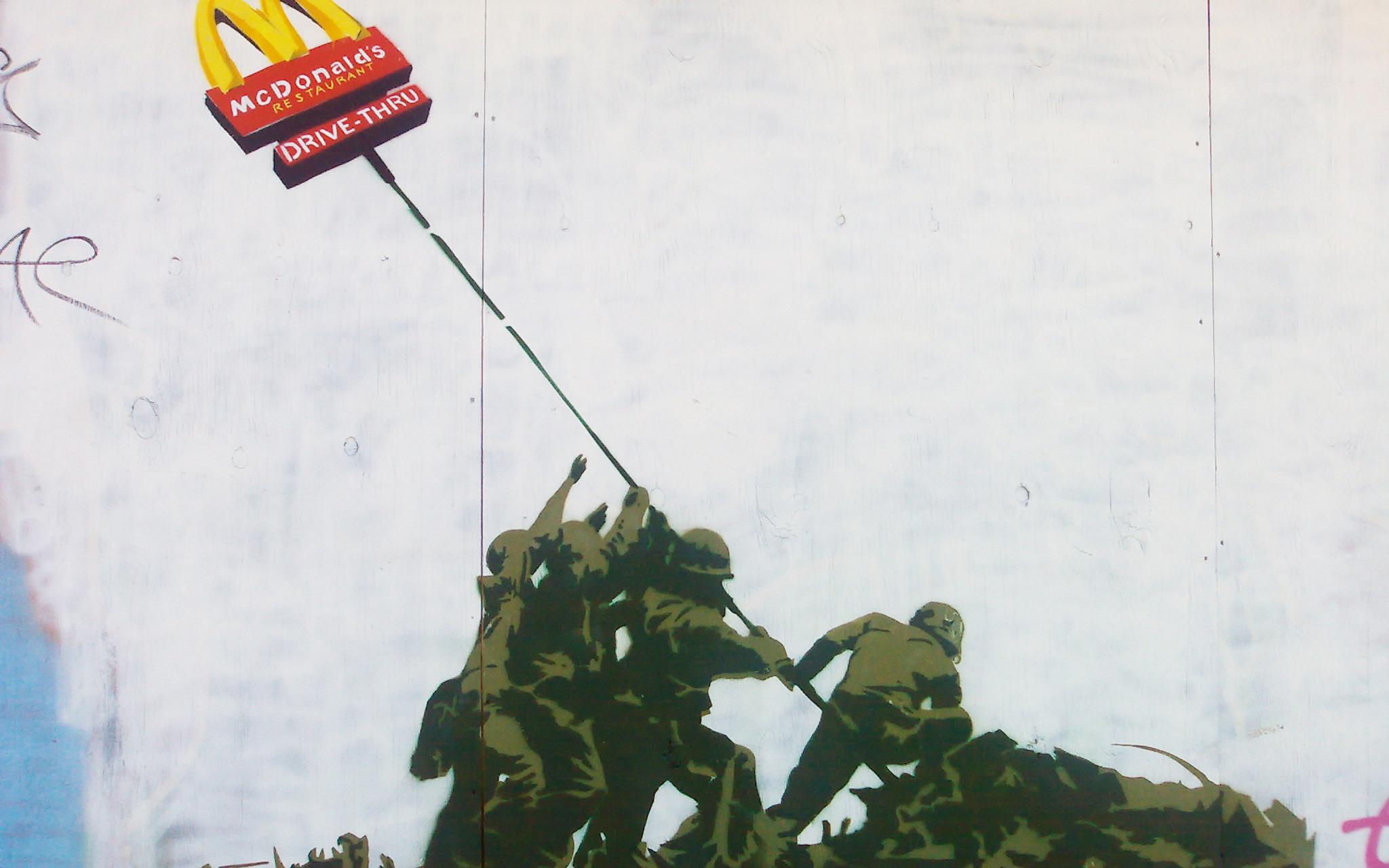Banksy McDonalds Iwo Jima Wallpaper