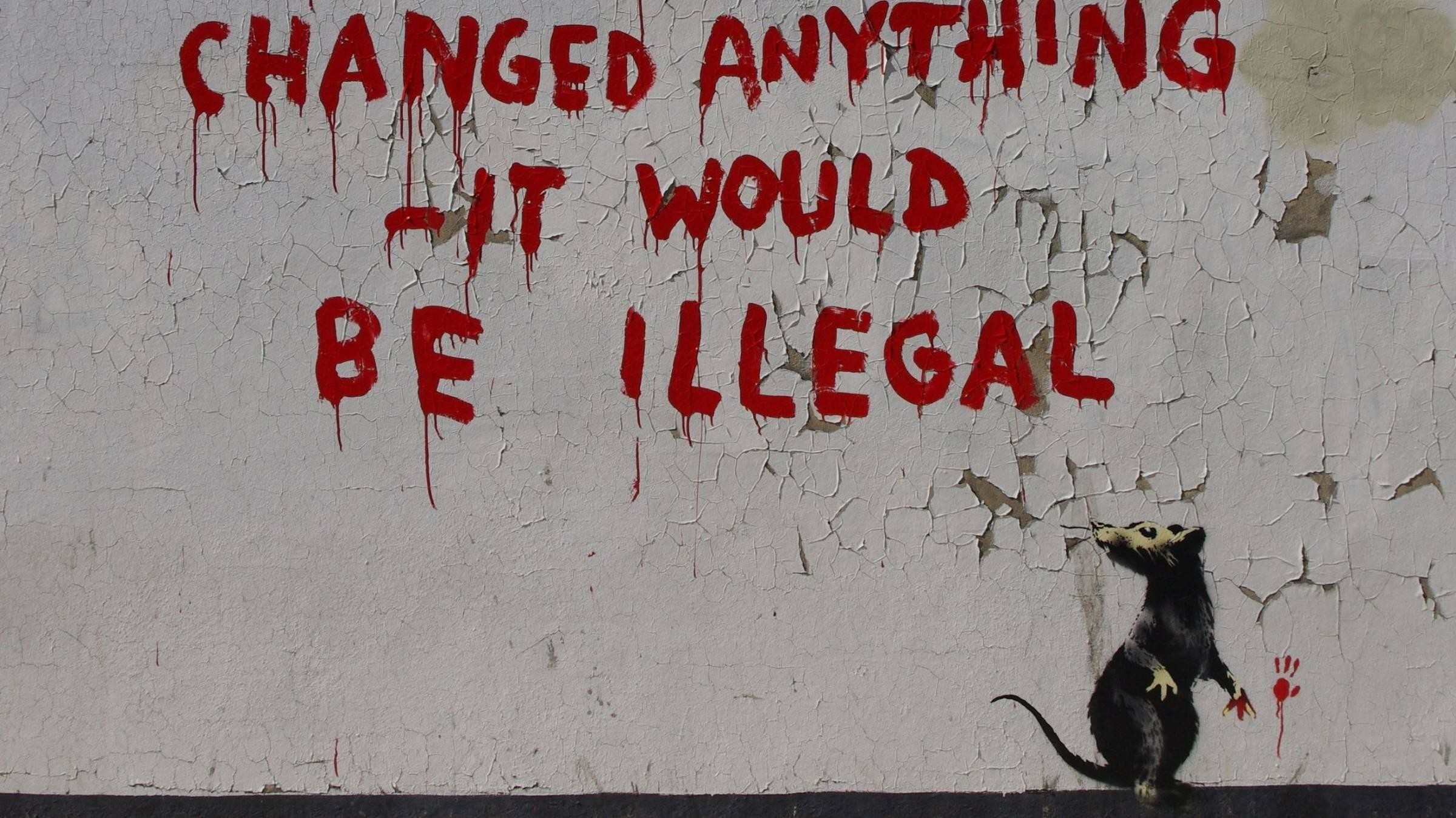 Banksy If Graffiti Changed Anything Wallpaper Wallpaper Android .
