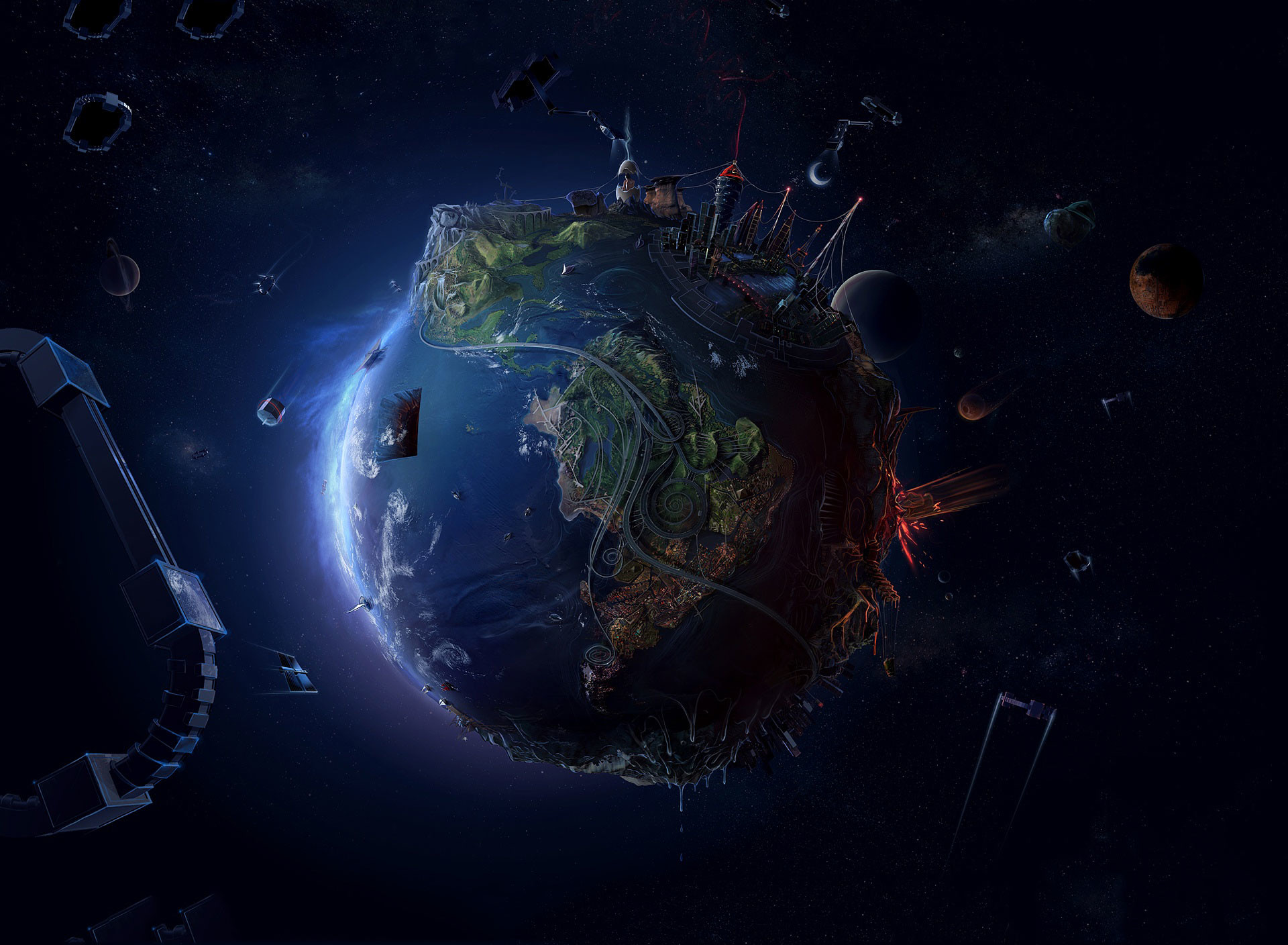 … Future Earth tablet wallpaper …