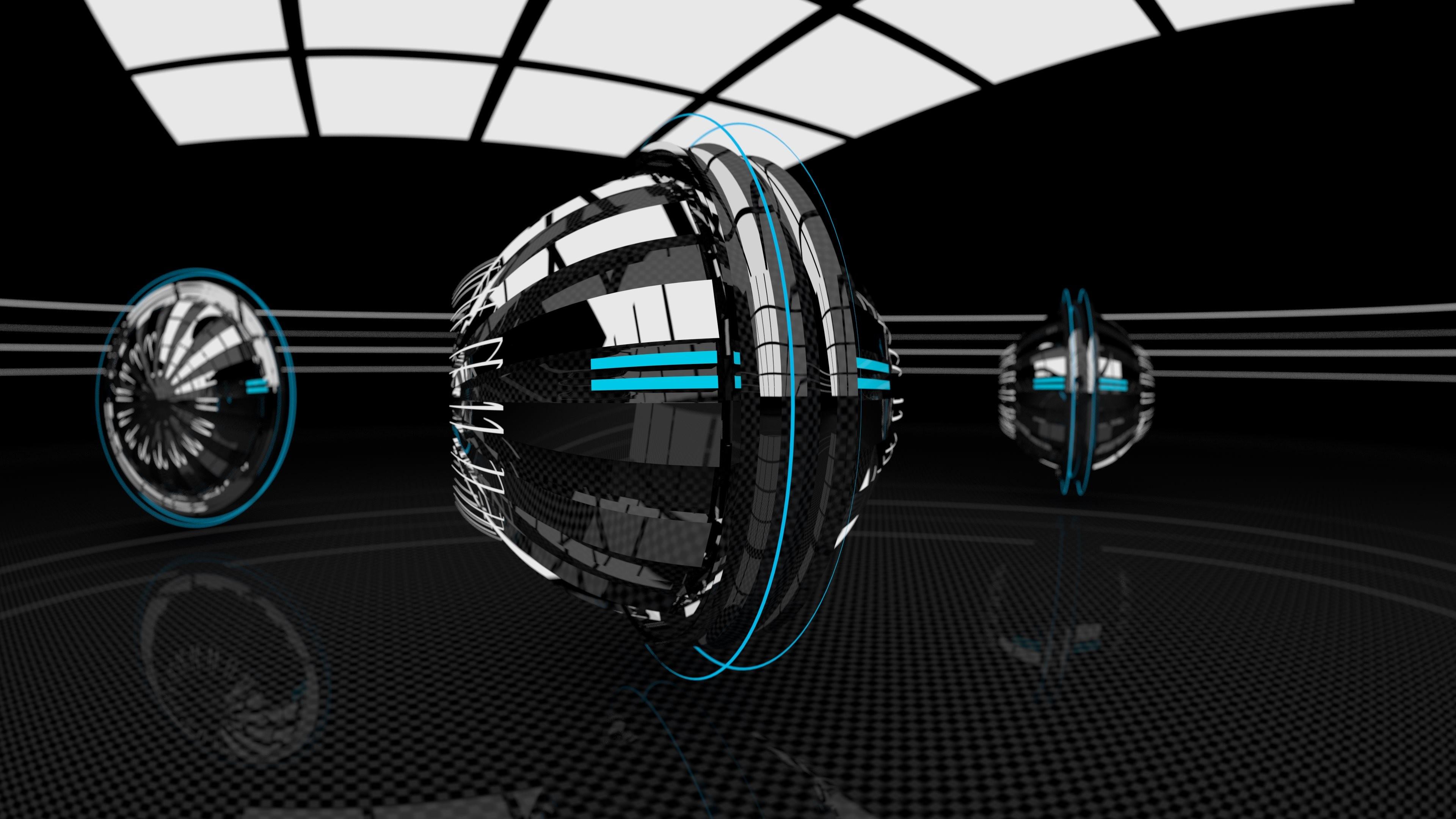 4K HD Wallpaper 2: Abstract 3D Technical Revolution