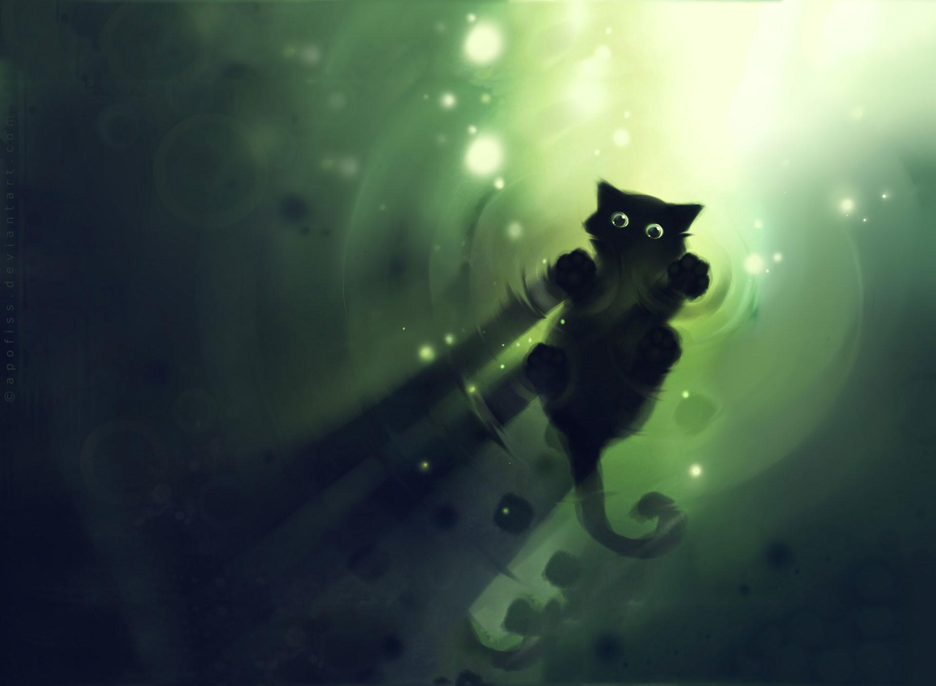 Abstract Kitten wallpaper