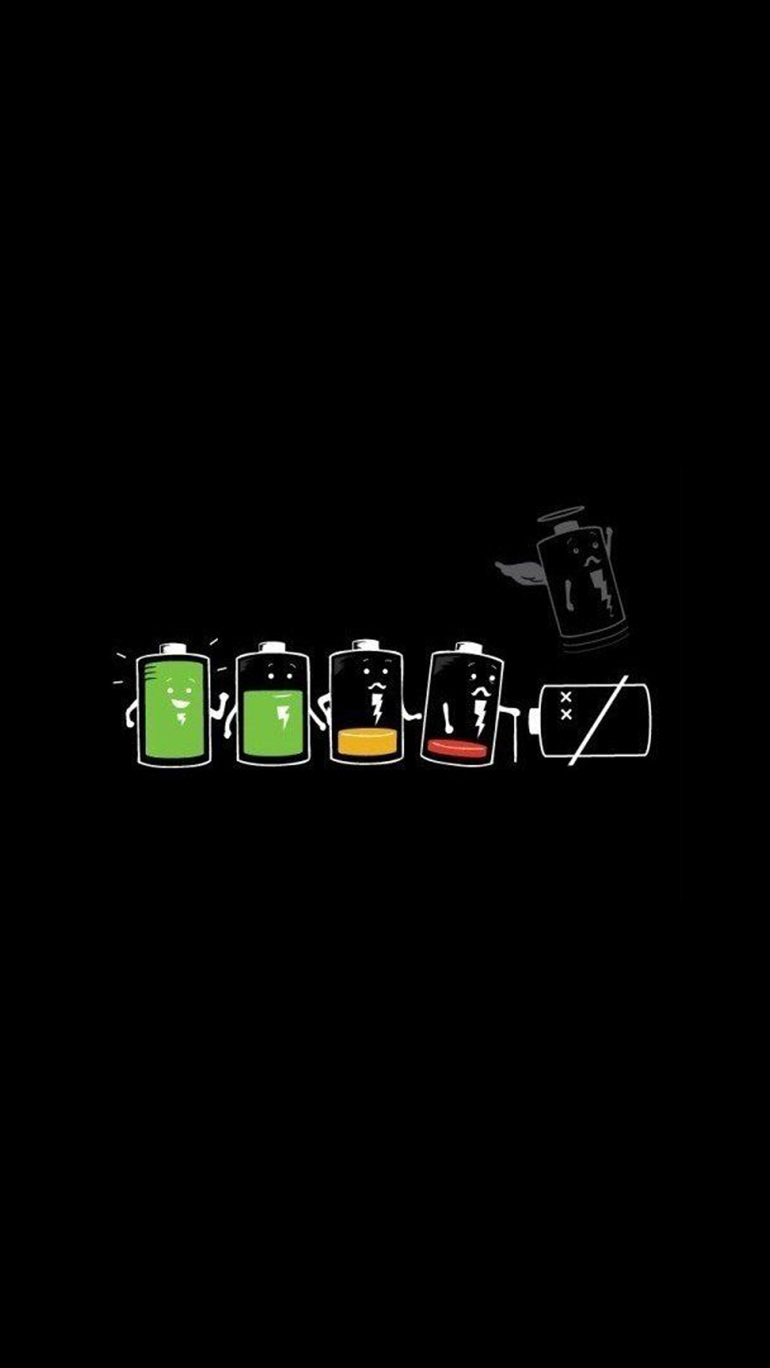 The Battery Life. Funny cartoon art iPhone wallpapers. Tap to see more  iPhone backgrounds