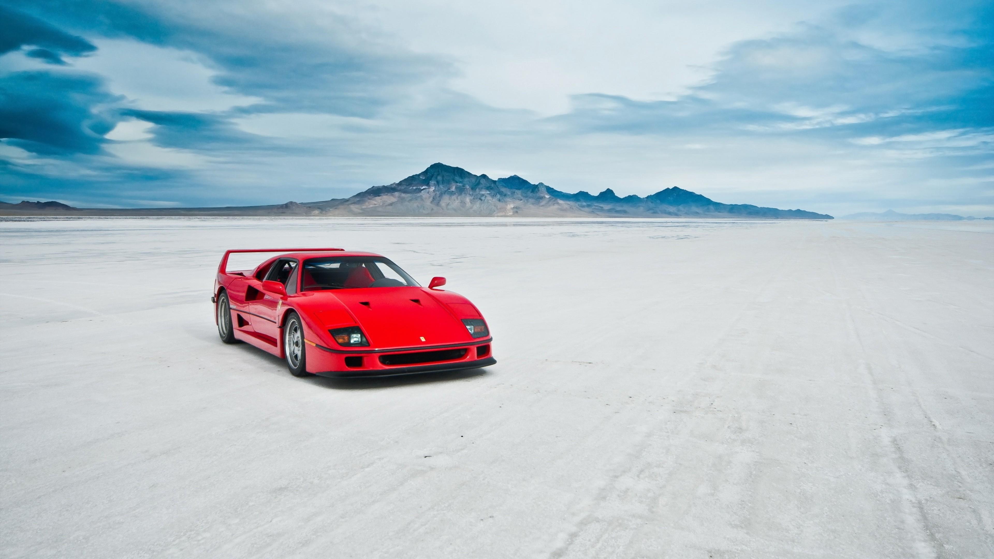 Download Wallpaper Ferrari F40, Lake, Machine 4K Ultra .