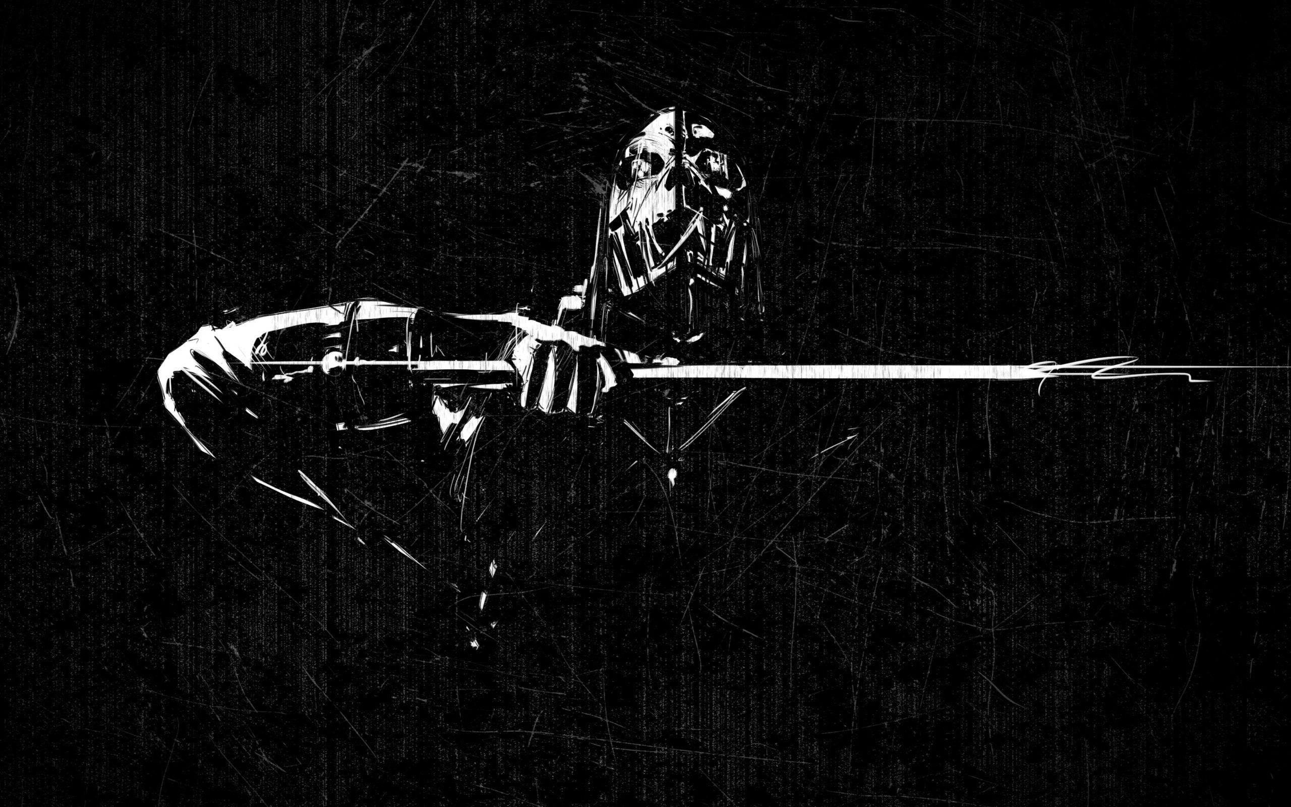 Great black and white grunge wallpaper. Click the link for the full  wallpaper -http