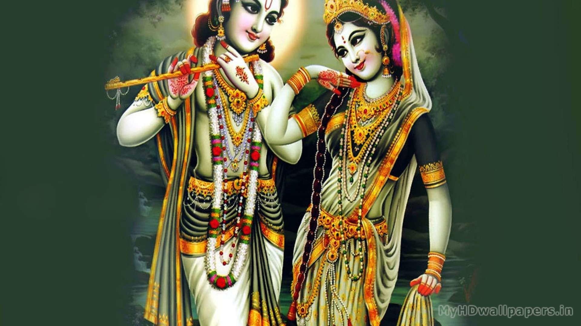 Lord Radha Krishna Desktop Wallpaper