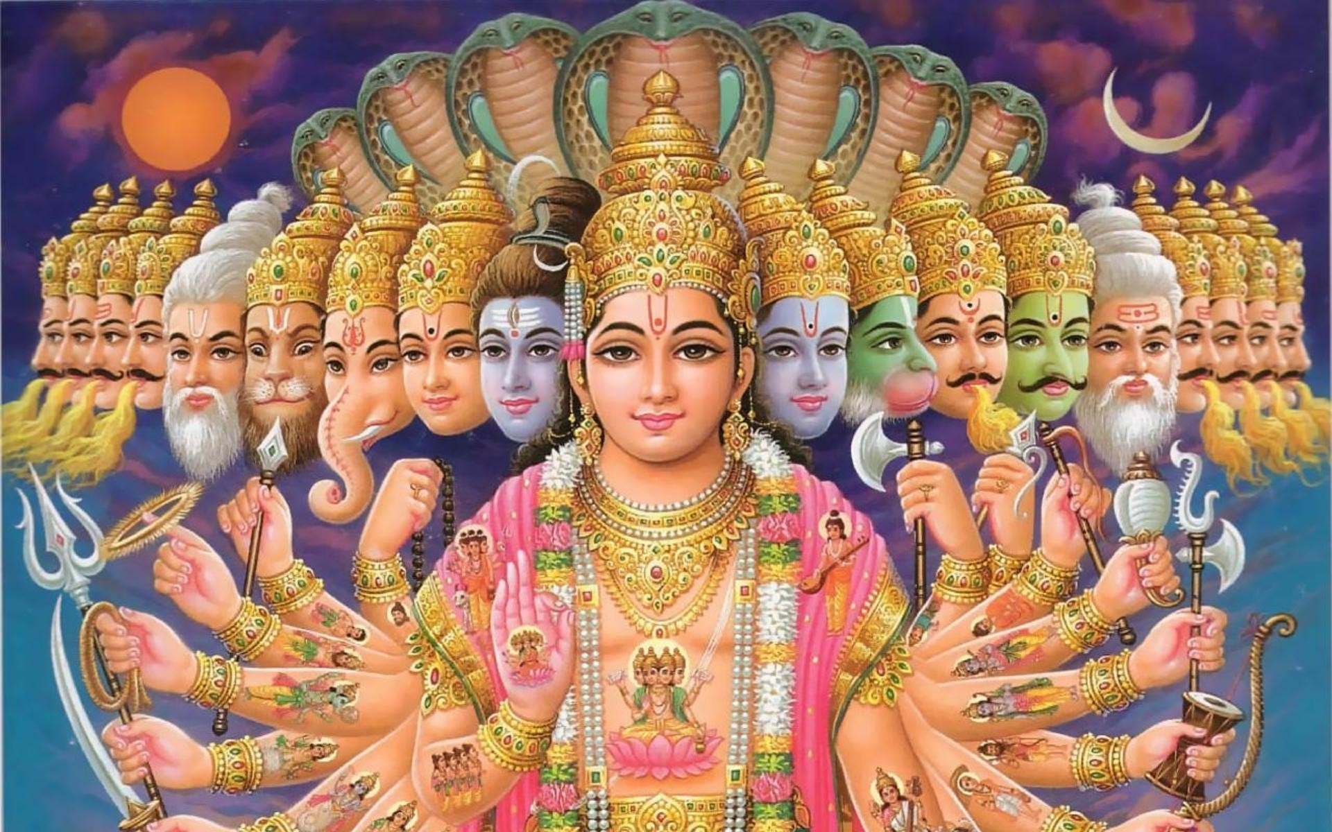 Lord Vishnu Wallpapers for Desktop in HD – Daily Backgrounds in HD