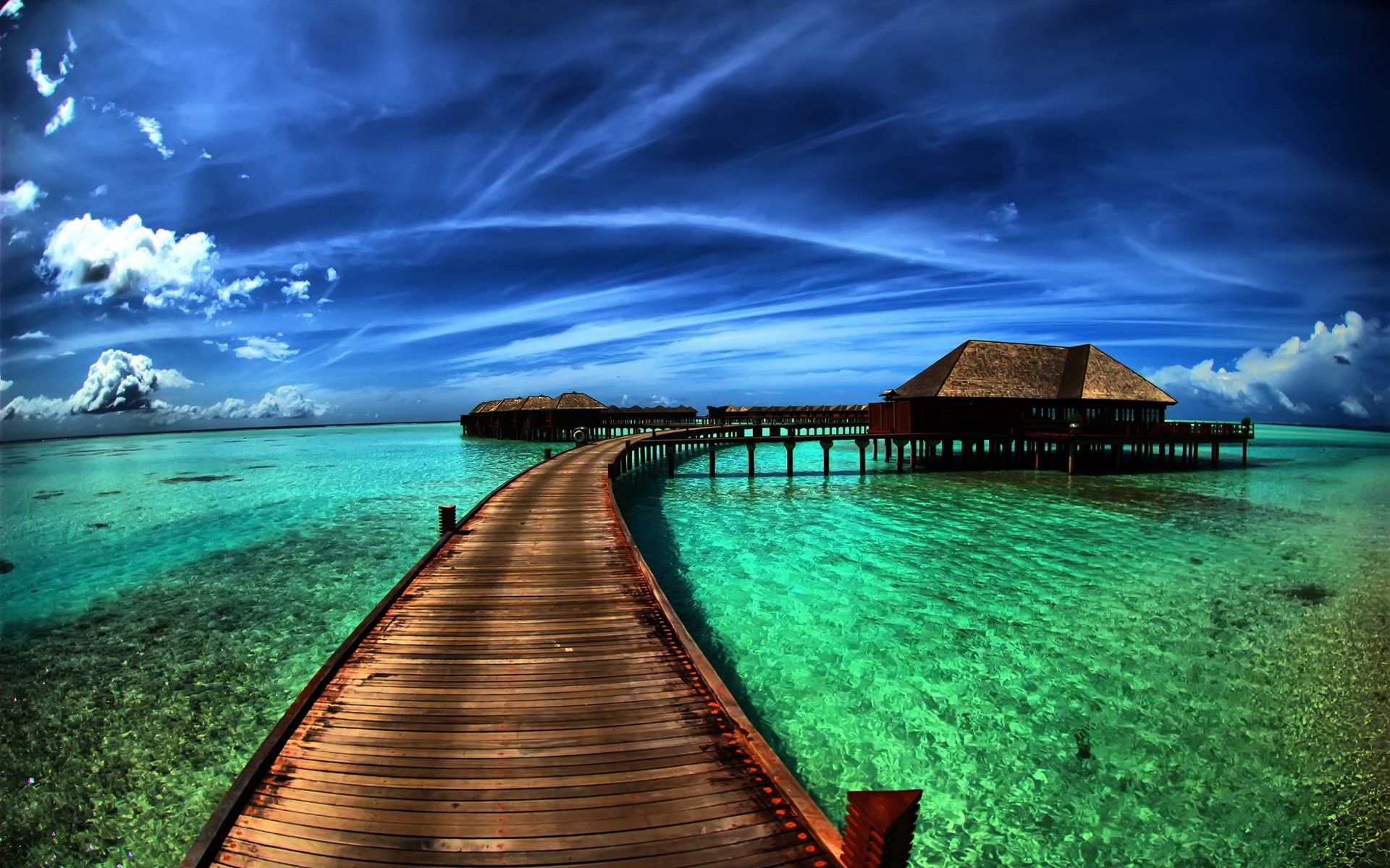 Photography – Tropical Ocean Sky Resort Holiday Wallpaper