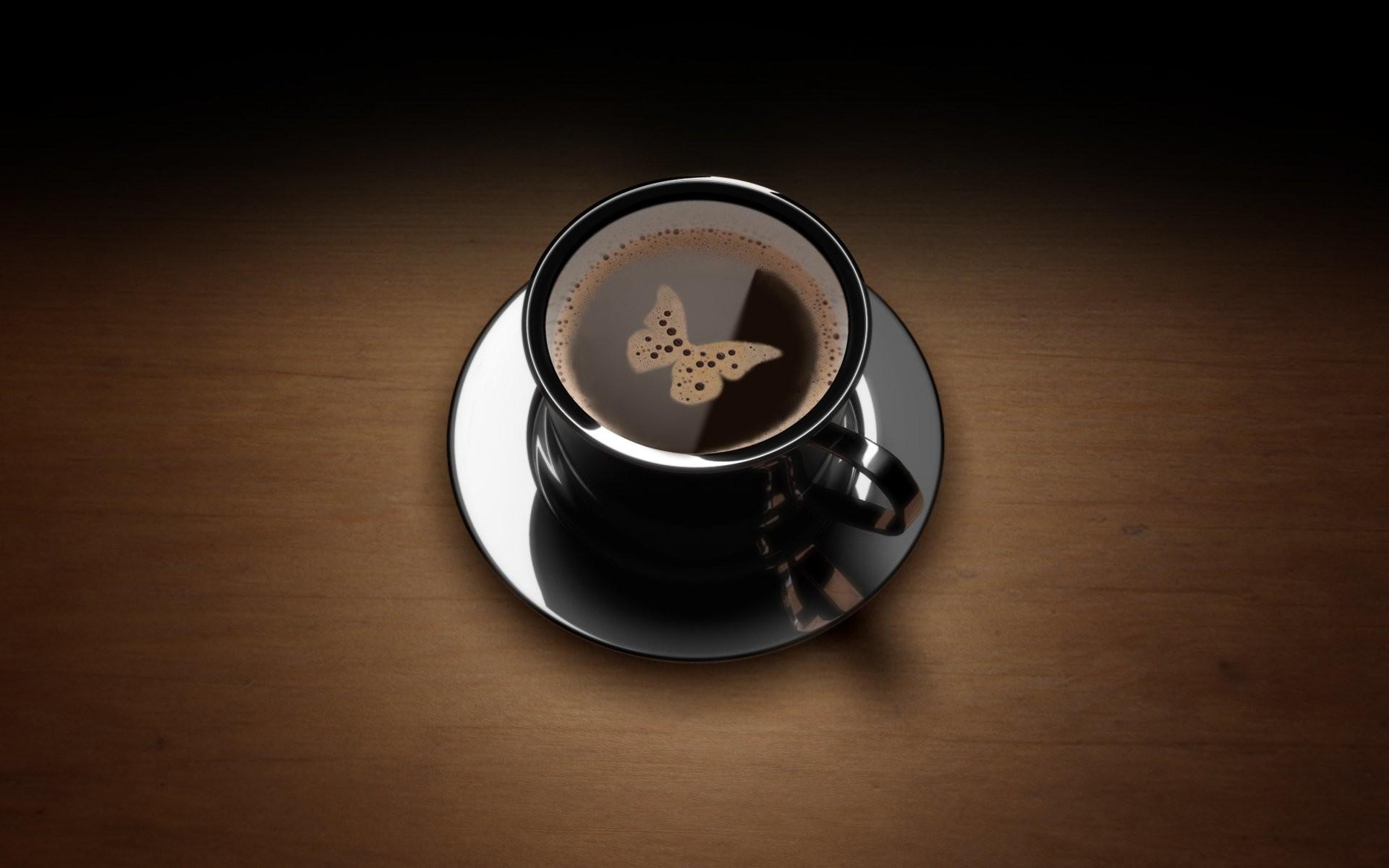 Food – Coffee Butterfly Wallpaper