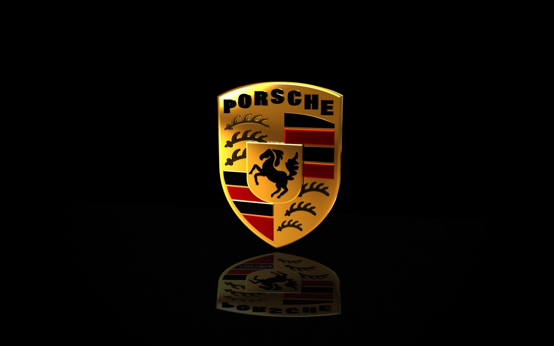 Porsche Logo Widescreen Wallpaper 1920×1200