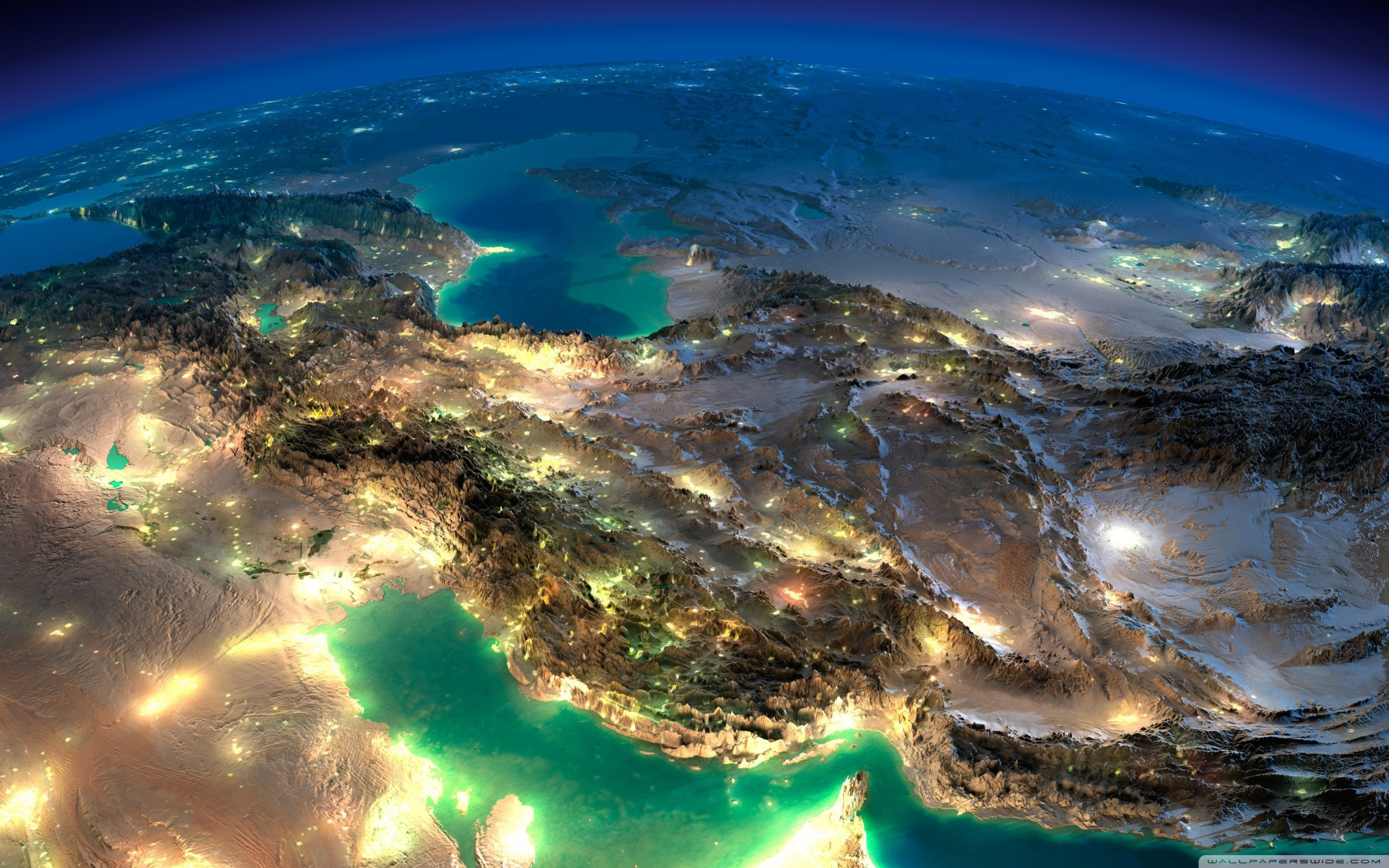 Very Nice Satellite Images Of Iran HD Wide Wallpaper for Widescreen