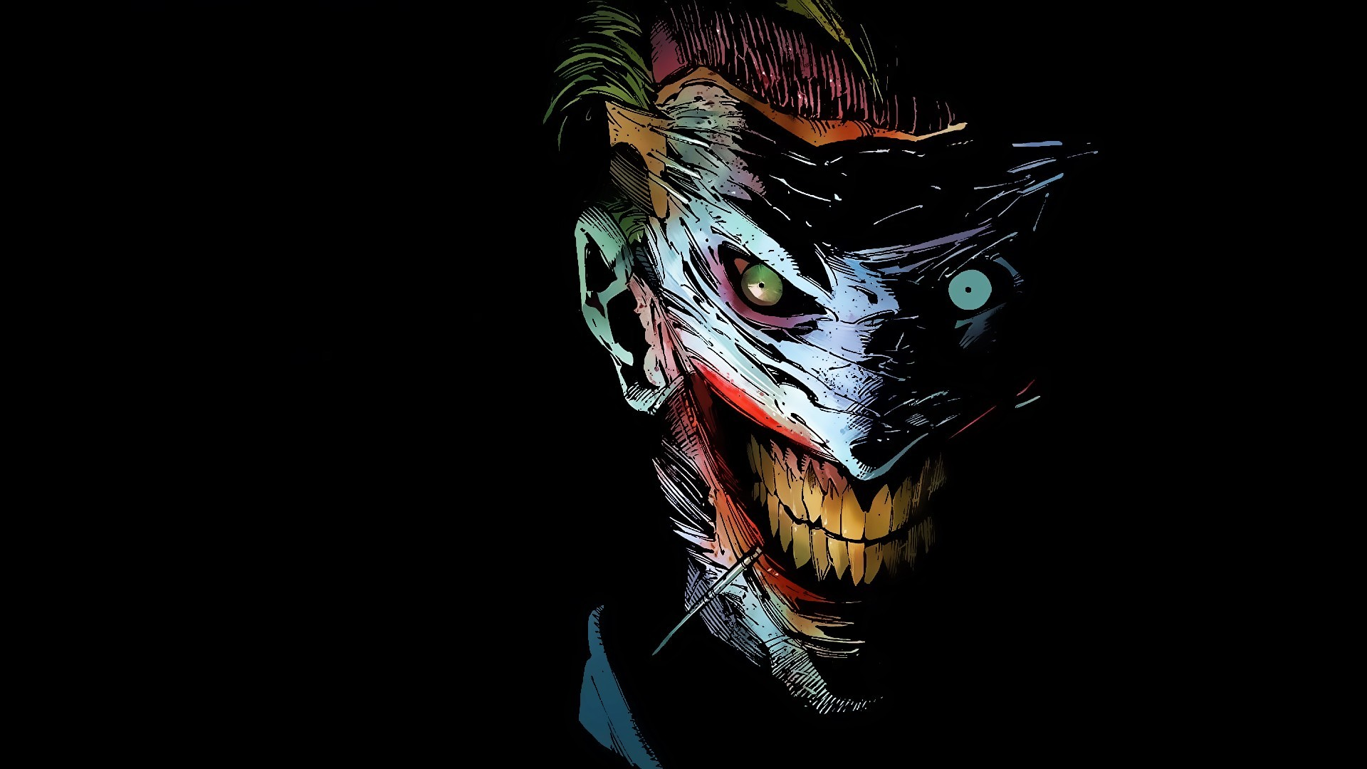 Preview wallpaper joker, dc comics, art 1920×1080