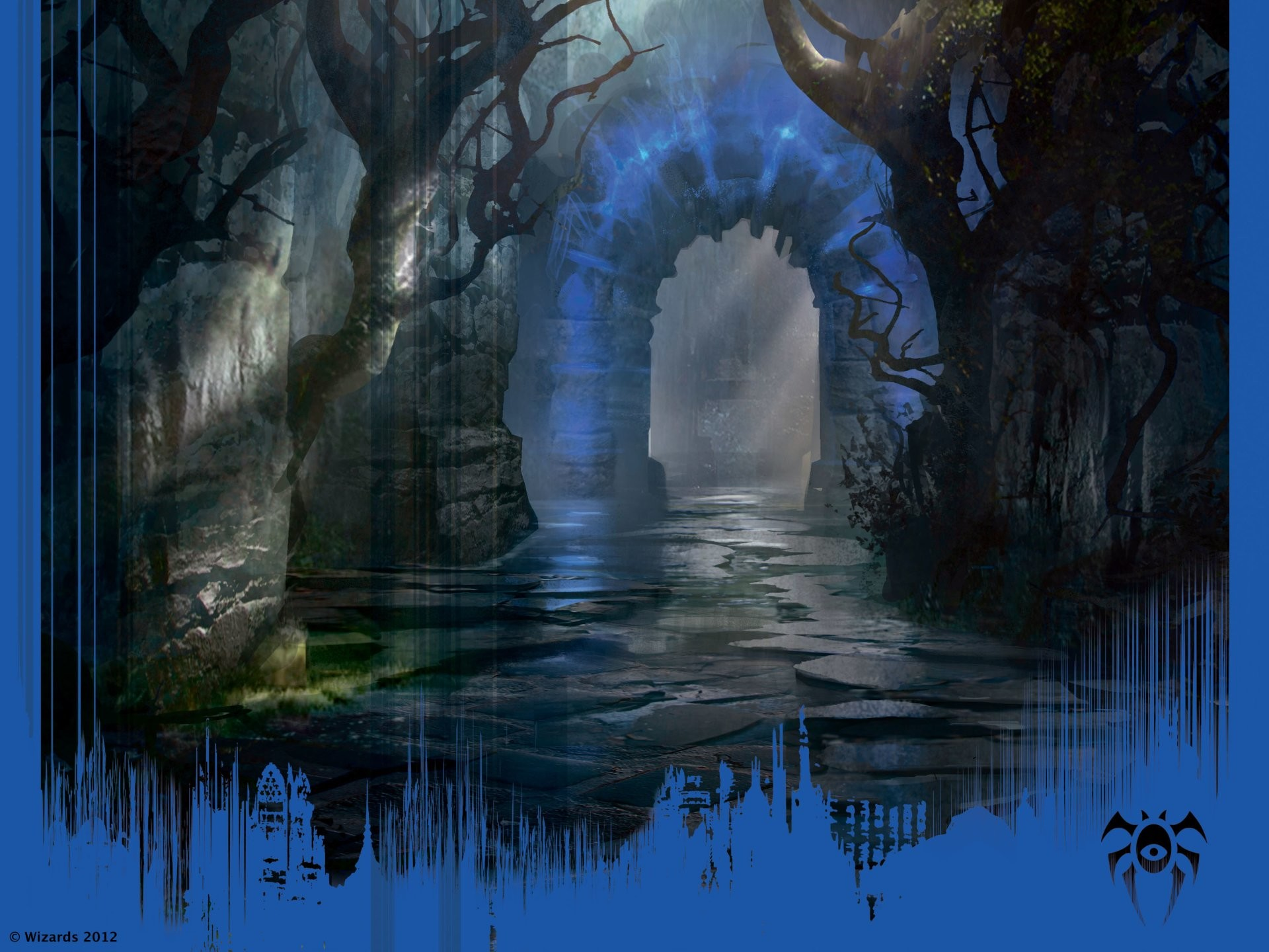 Fantasy Landscape Magic: The Gathering Dimir Guildgate Wallpaper