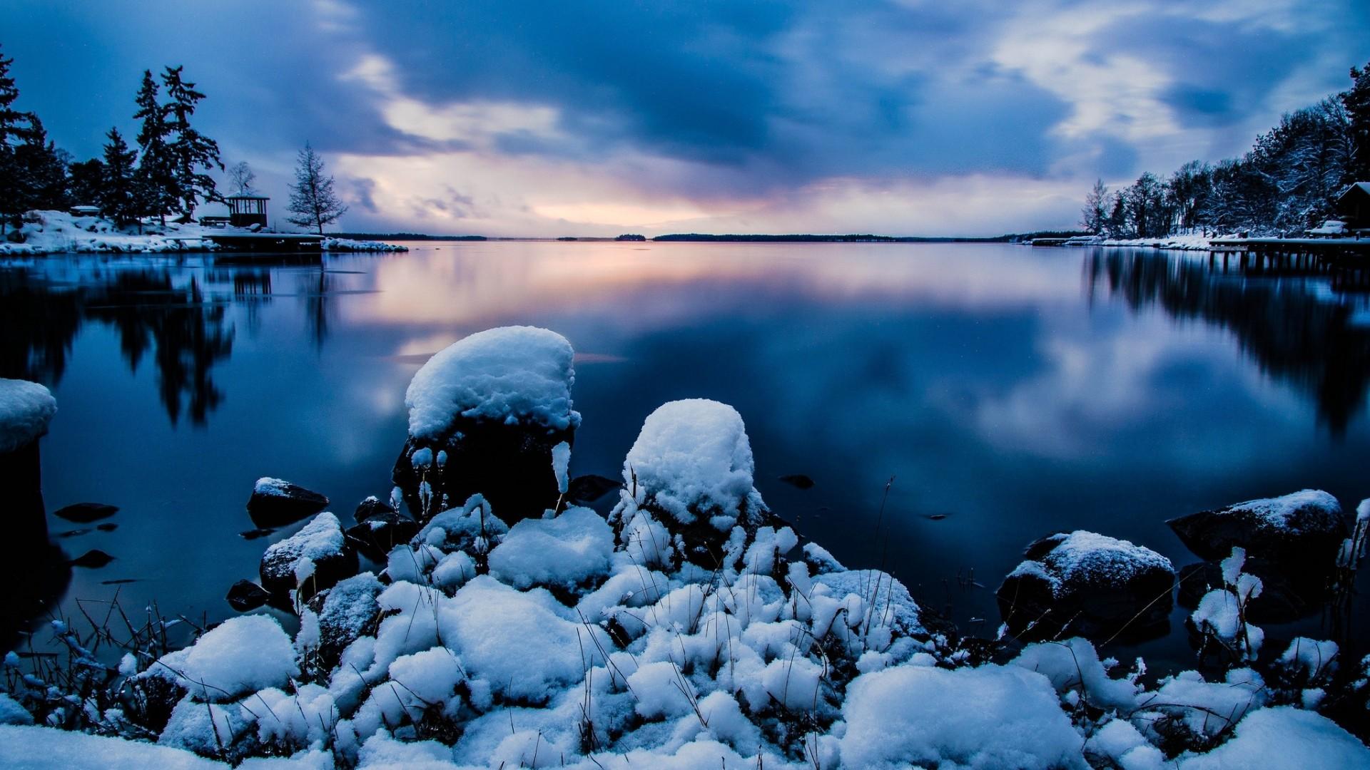 Wallpaper rocks, sky, stockholm, water, evening