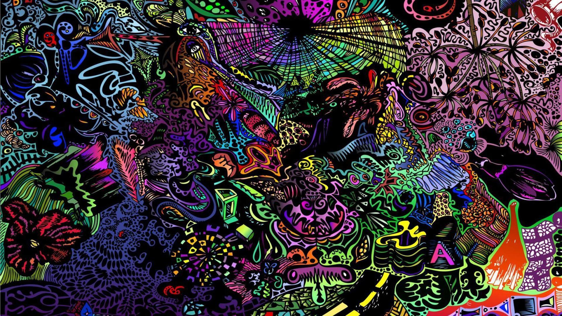 1 Miscellaneous Digital Art Trippy Colorful Wallpaper – WallpaperTube