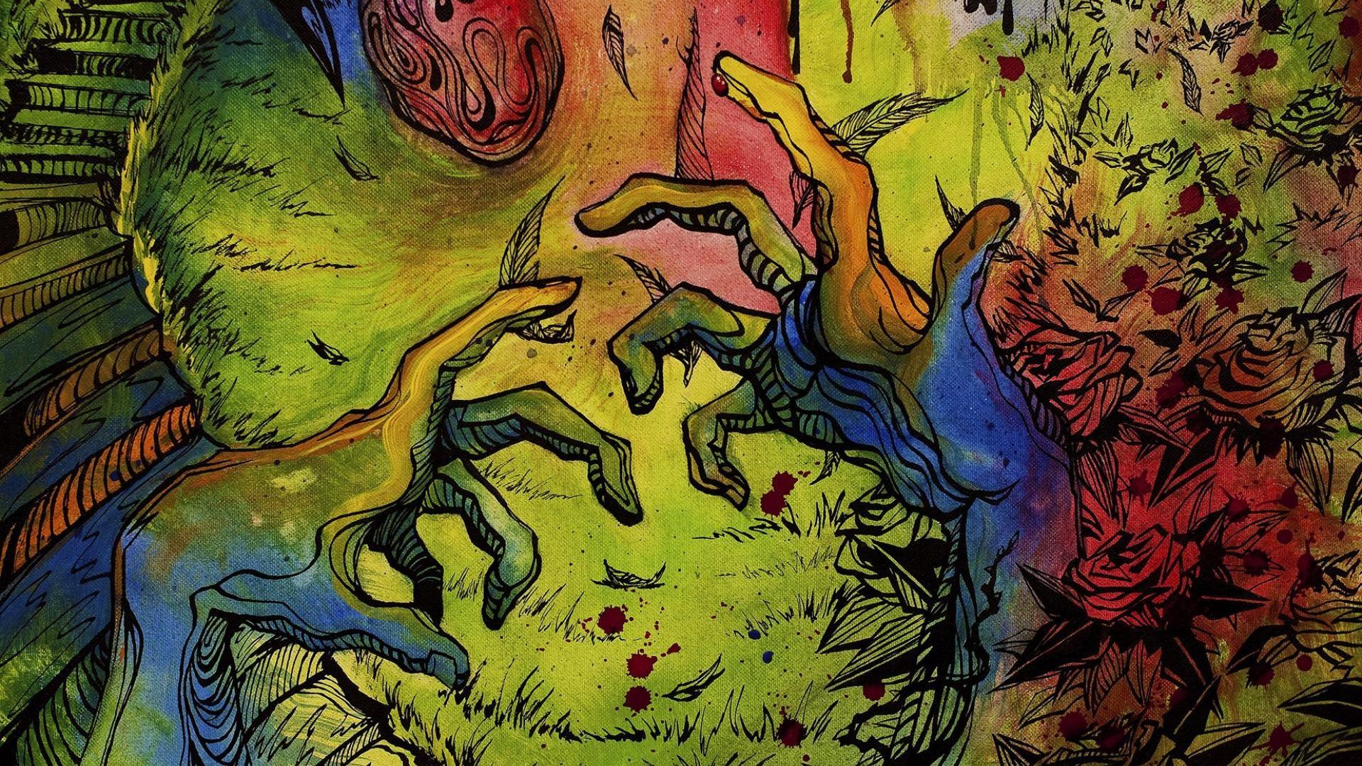 Trippy Hands Desktop Wallpaper 50033
