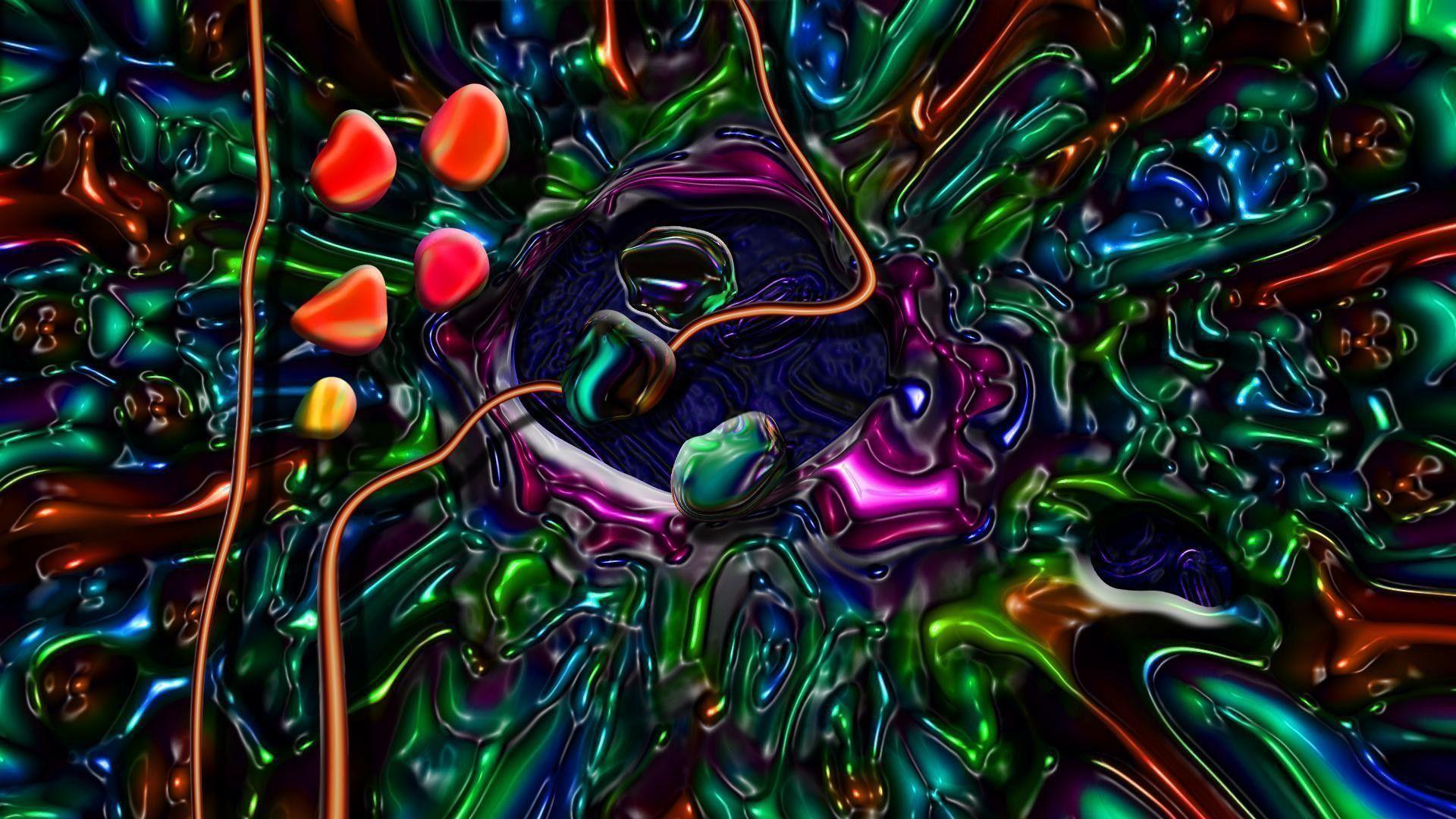 Trippy Space Background Wallpaper HD Resolution – dlwallhd.