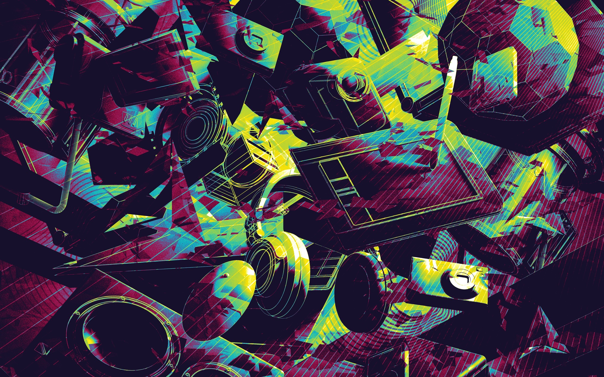 headphones, abstract, cameras, artwork, Tablets, pens :: Wallpapers