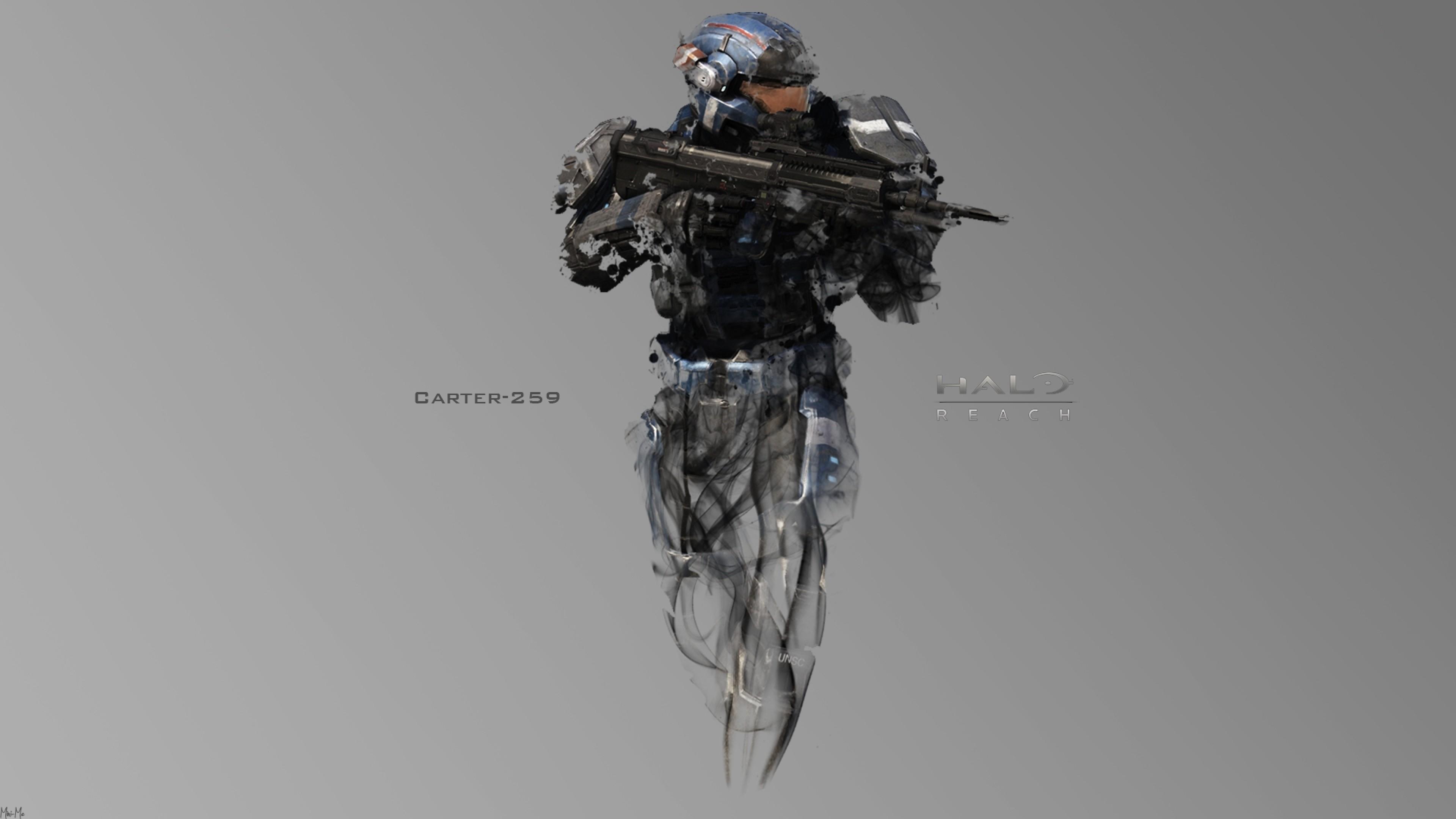 Preview wallpaper halo, soldier, gun, carter-259 3840×2160