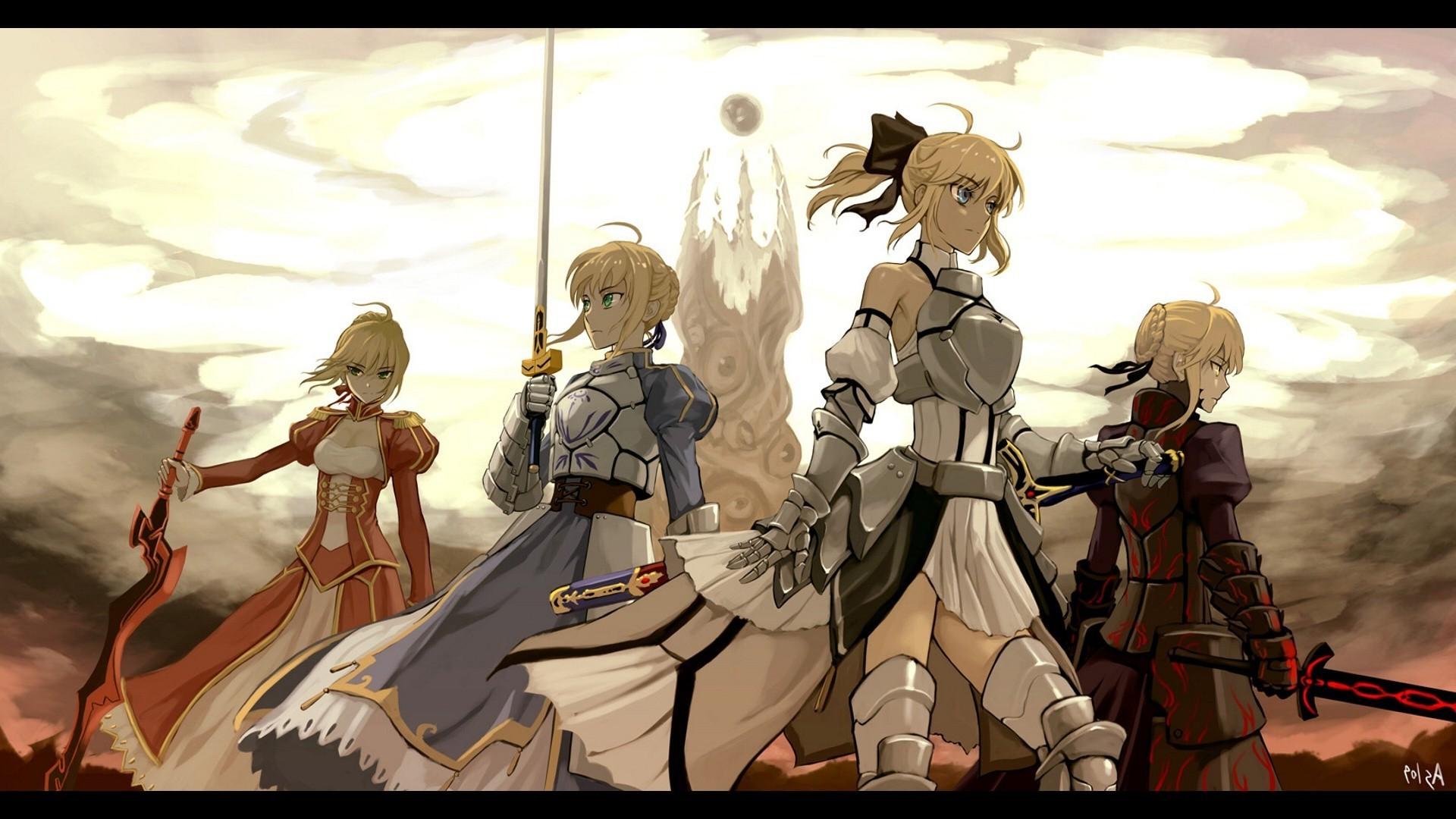 anime, Fate Zero, Fate Series, Fate Stay Night, Saber, Empress Nero
