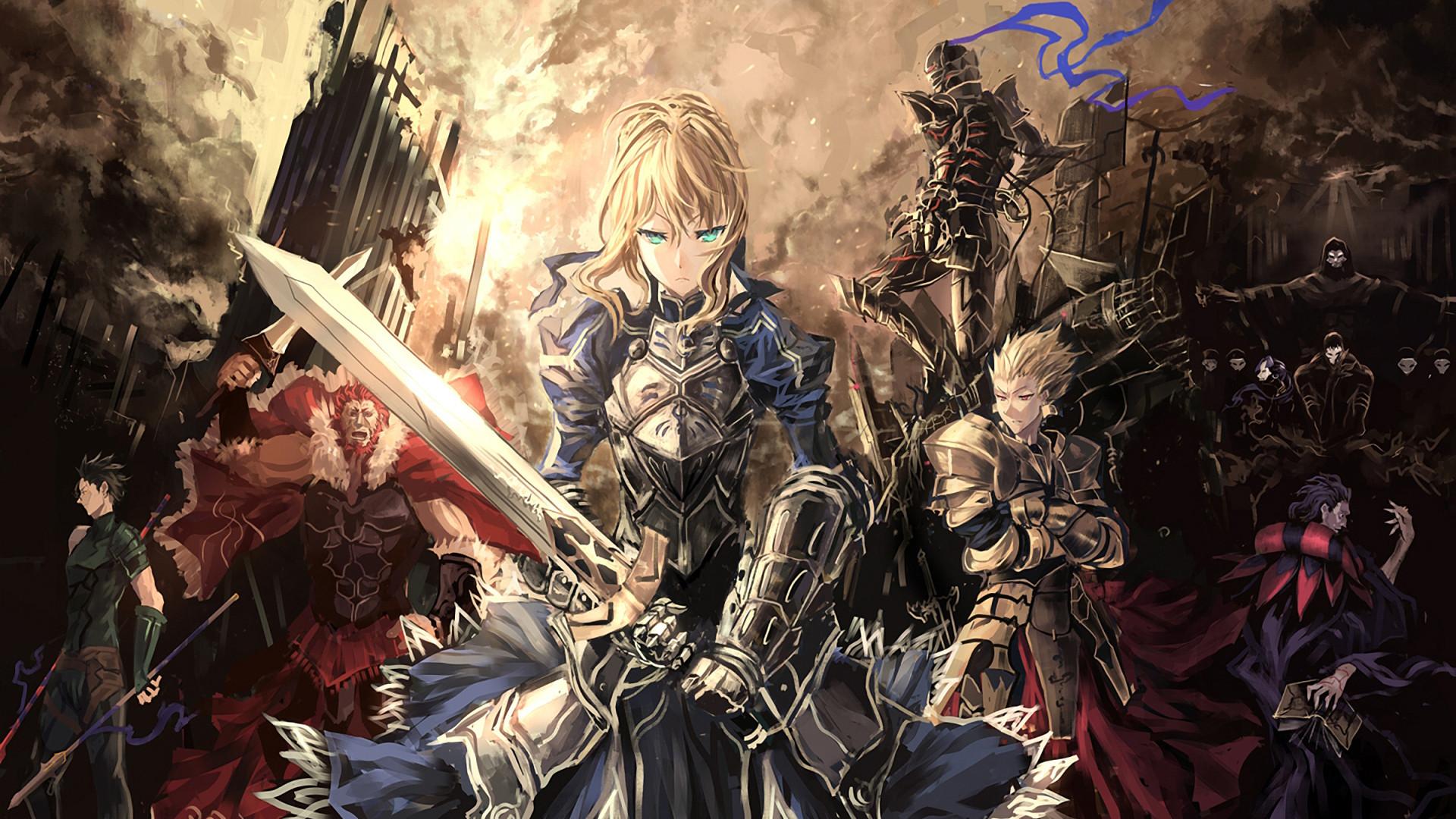 Fate Zero saber lancer caster rider berserker archer assassin servants  armor weapons city wallpaper     148557   WallpaperUP
