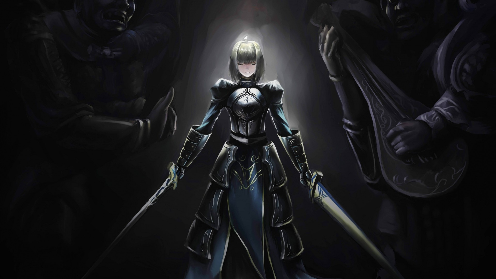 Preview wallpaper fate stay night, saber, girl, art 1920×1080