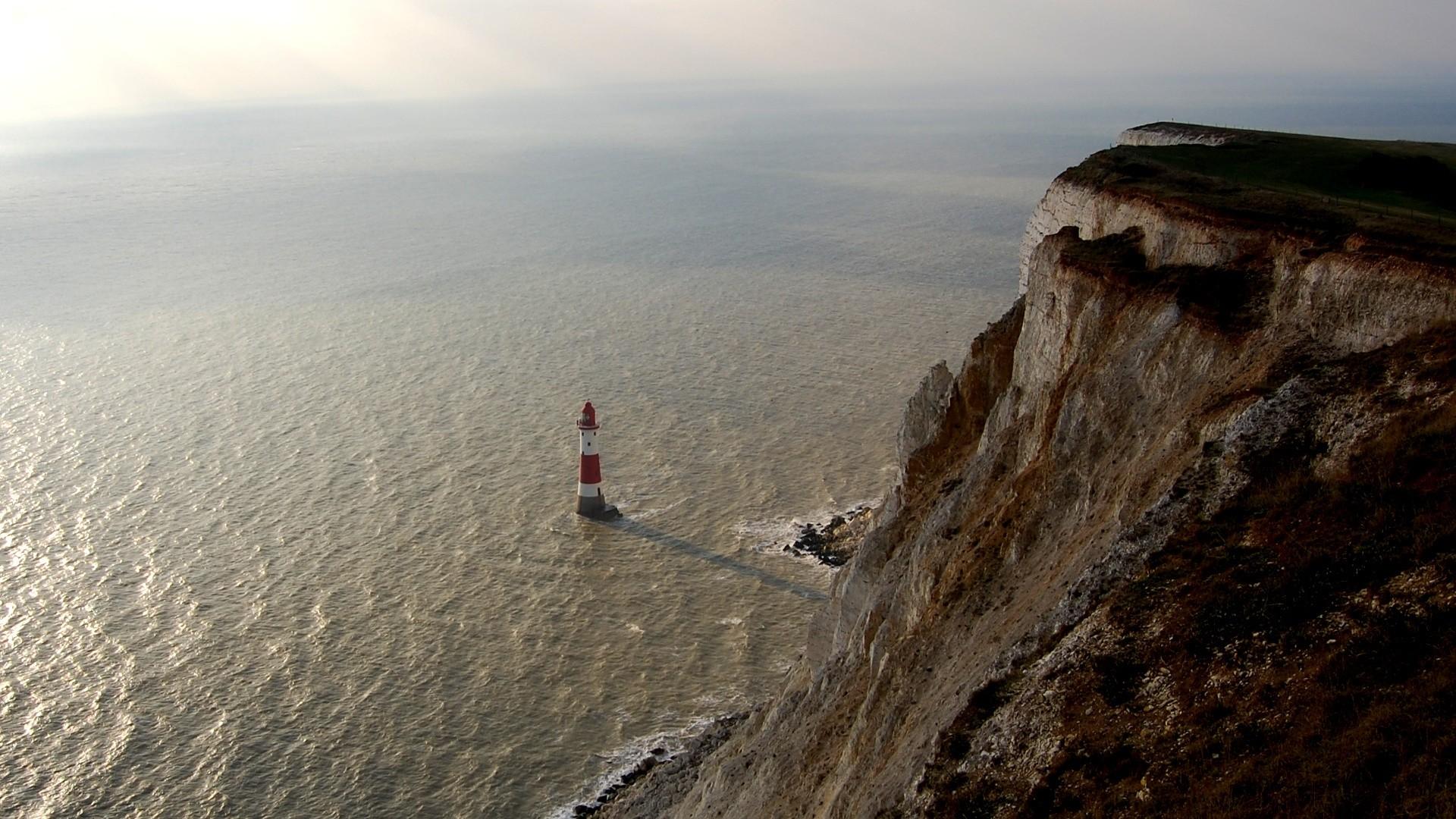 Wallpaper rock, lighthouse, height, stranded