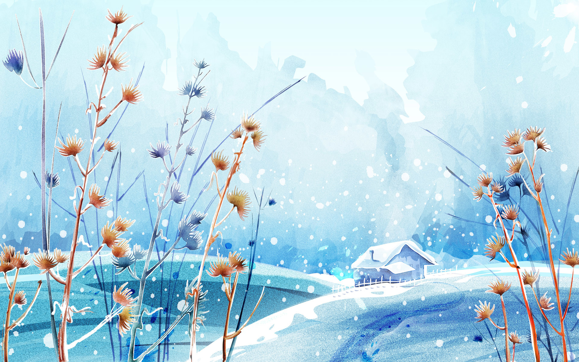Beautiful Winter Day HD wallpaper.