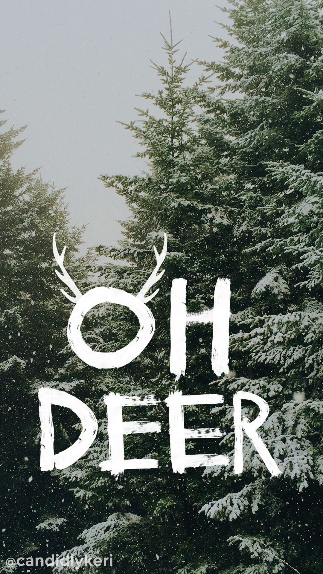 Oh Deer snowy trees Christmas tree cute background wallpaper you can  download for free on the